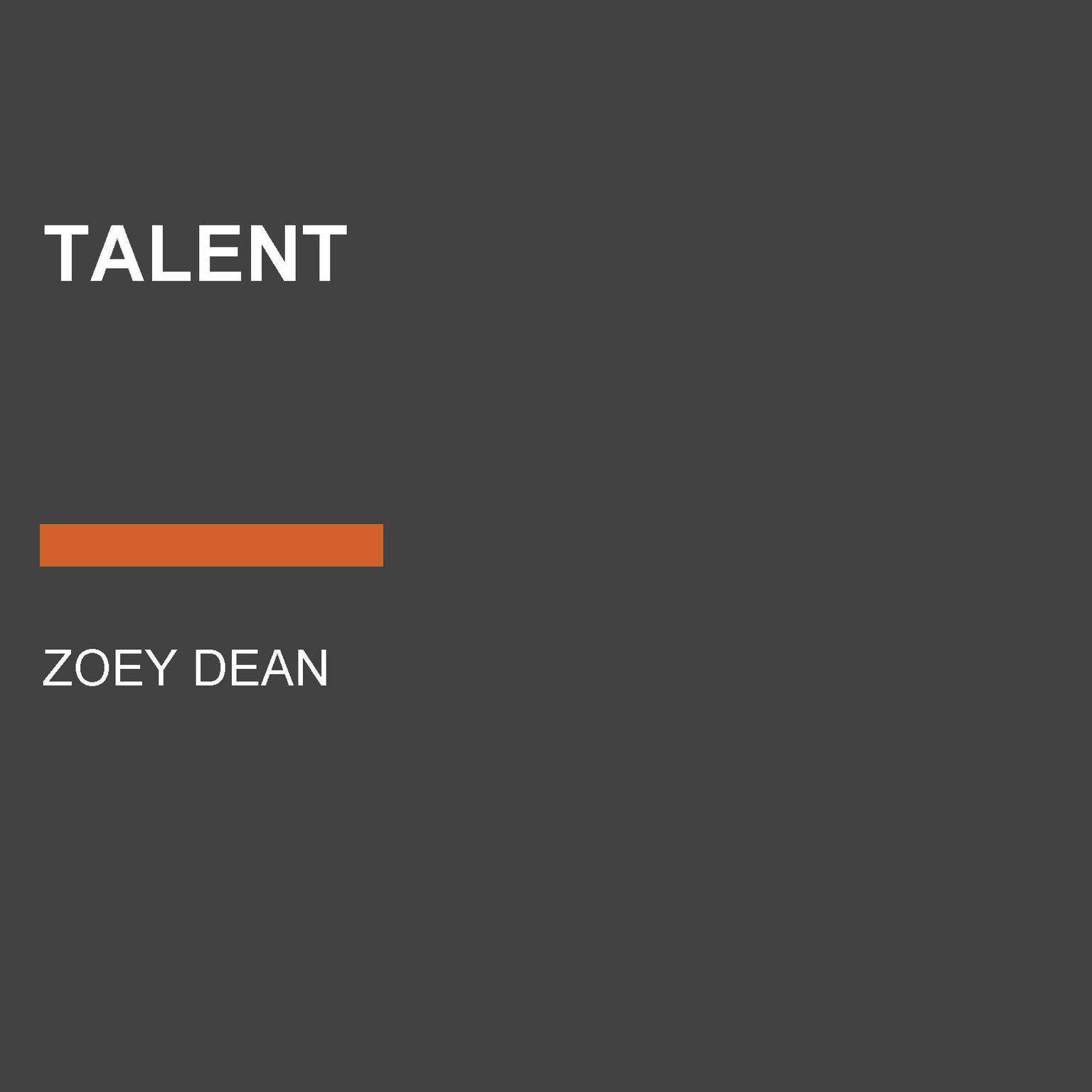 Talent Audiobook, by Zoey Dean