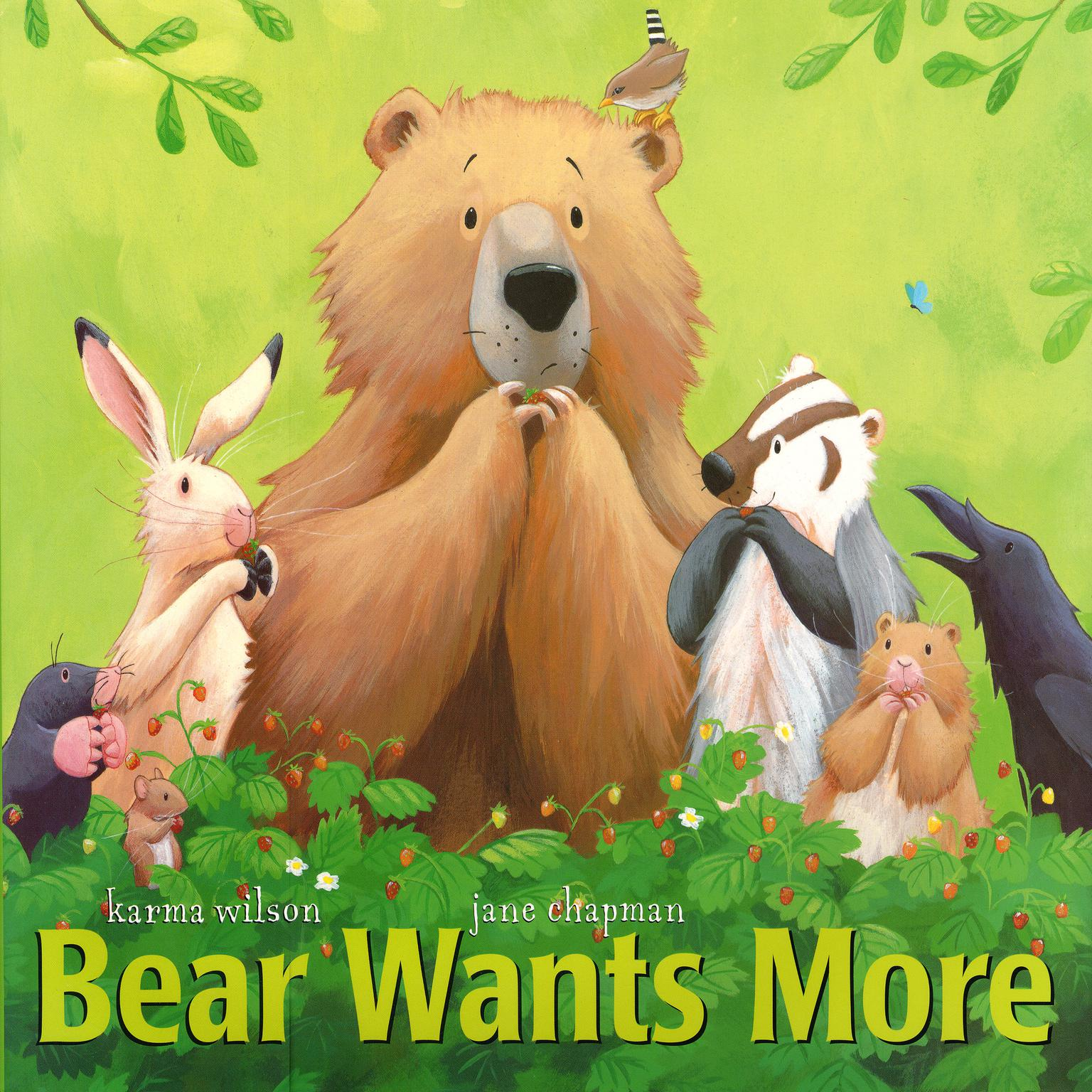 Printable Bear Wants More Audiobook Cover Art