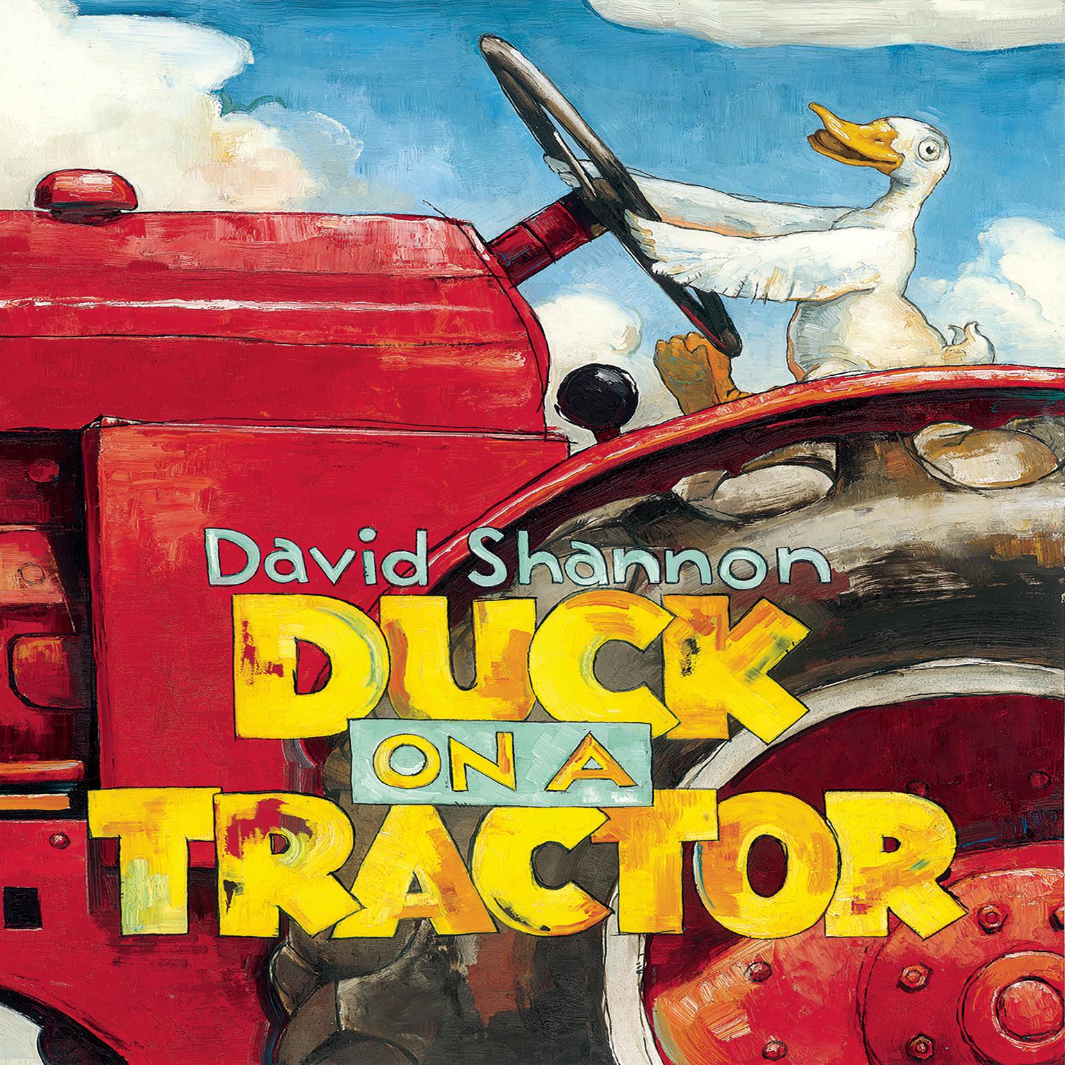 Printable Duck on a Tractor Audiobook Cover Art
