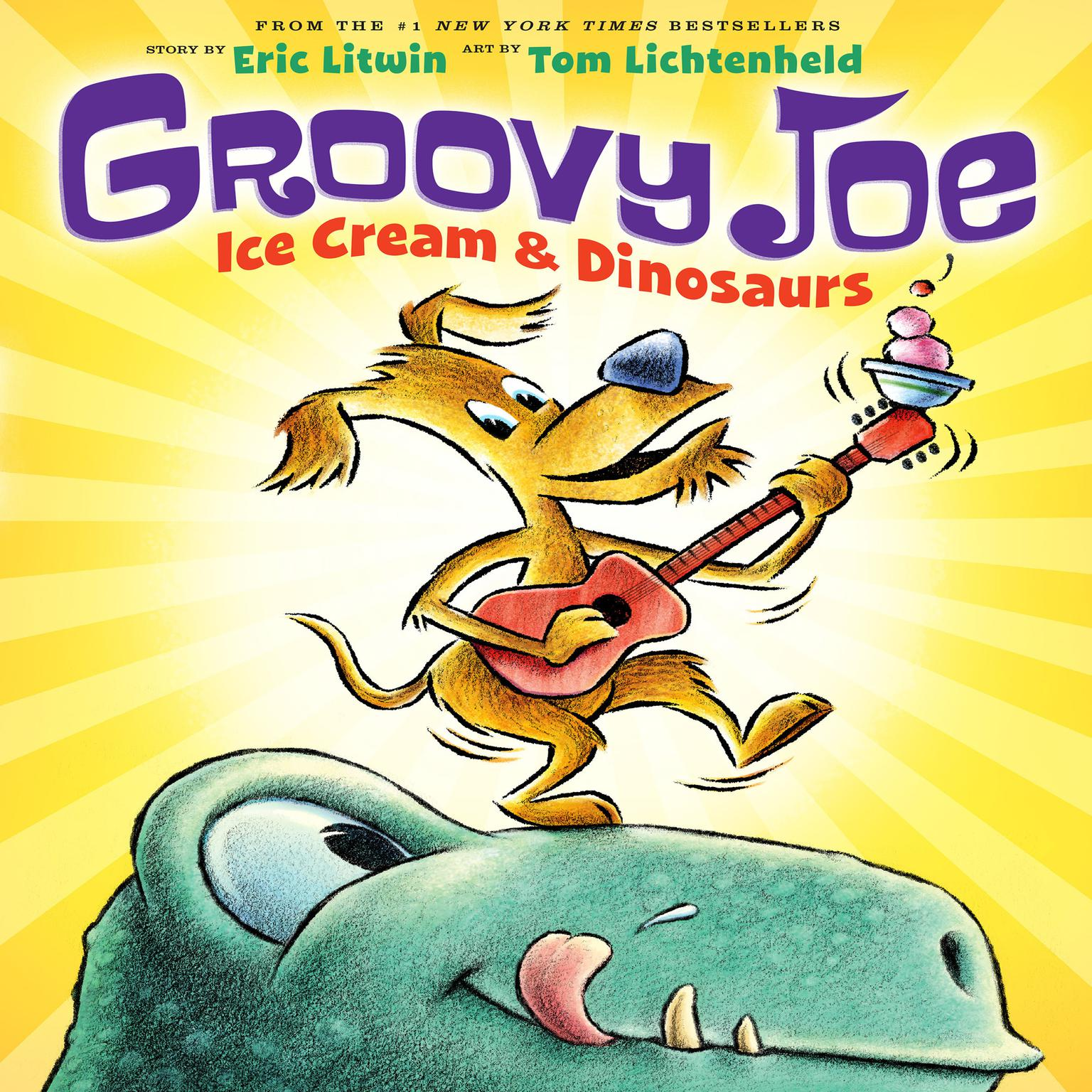 Printable Groovy Joe: Ice Cream and Dinosaurs Audiobook Cover Art