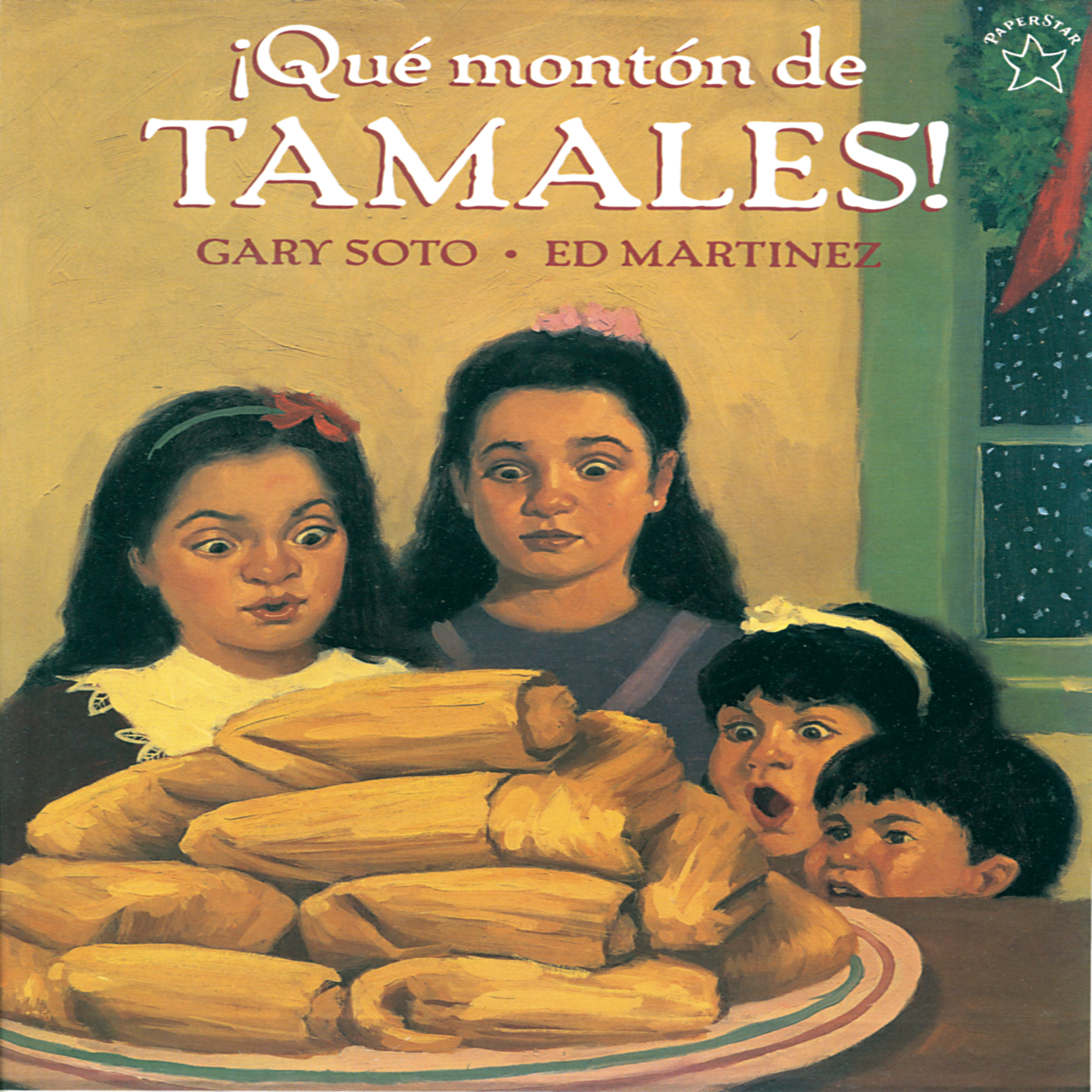 Printable Que Monton de Tamales Audiobook Cover Art