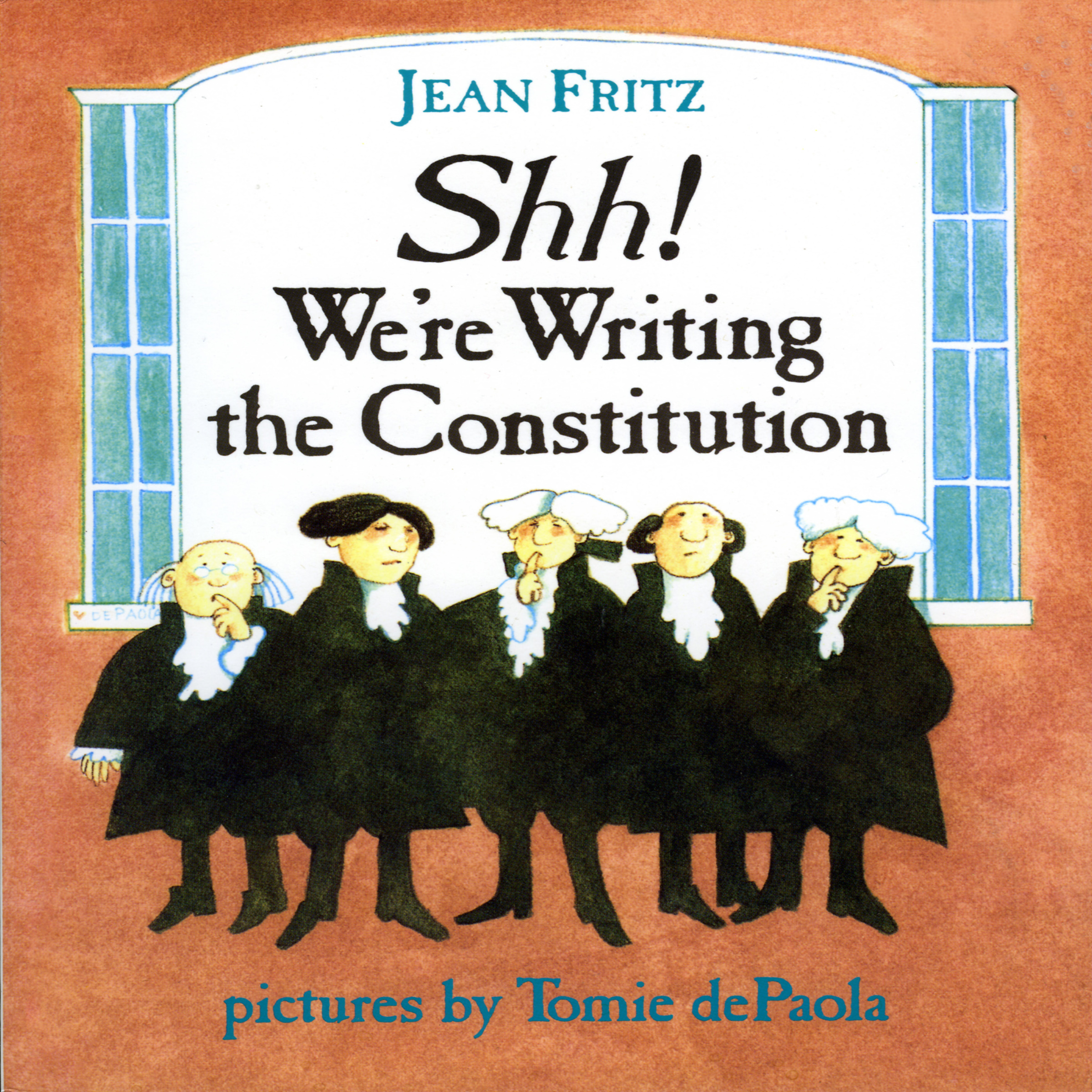 Printable Shh! We're Writing The Constitution Audiobook Cover Art