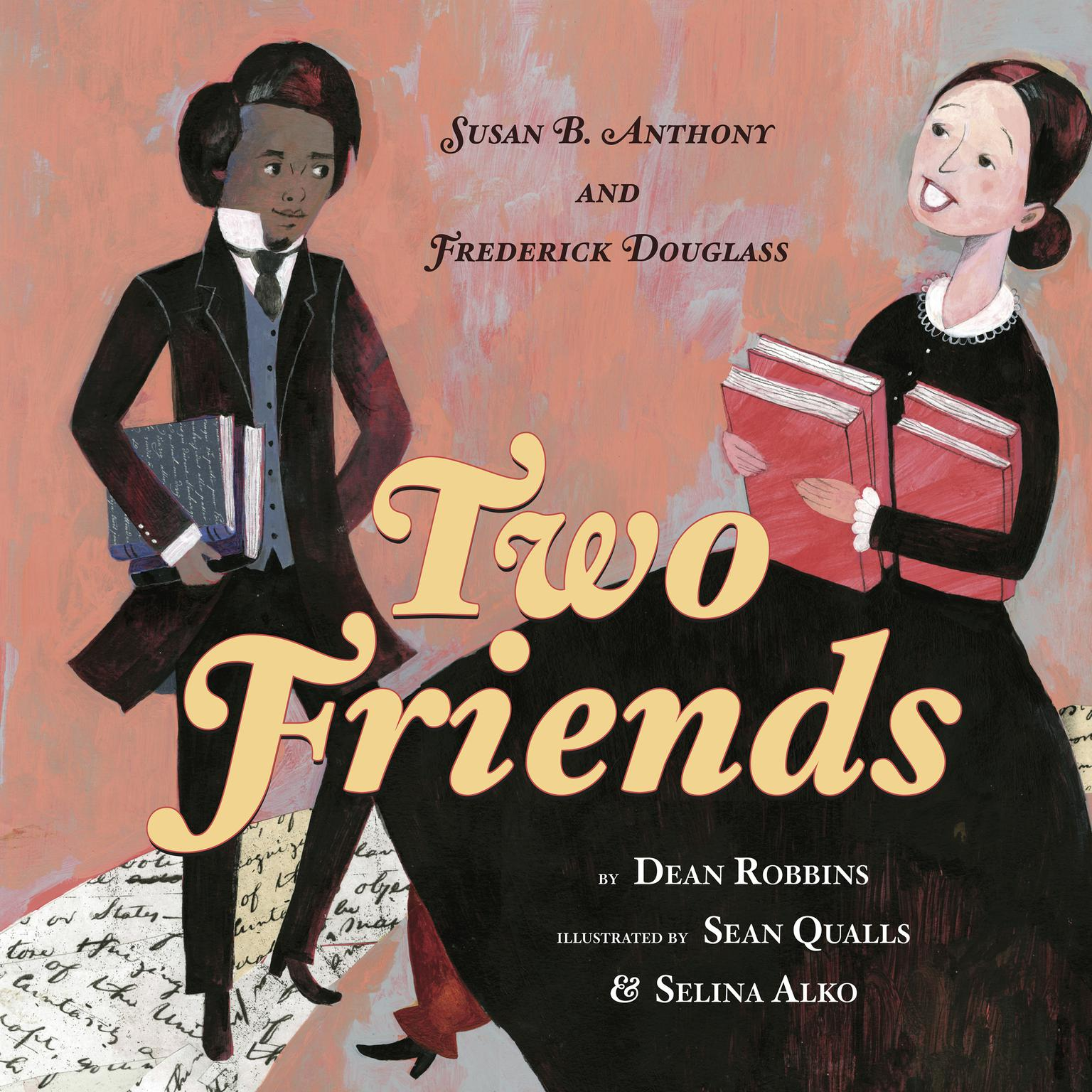 Printable Two Friends: Susan B. Anthony and Frederick Douglass Audiobook Cover Art