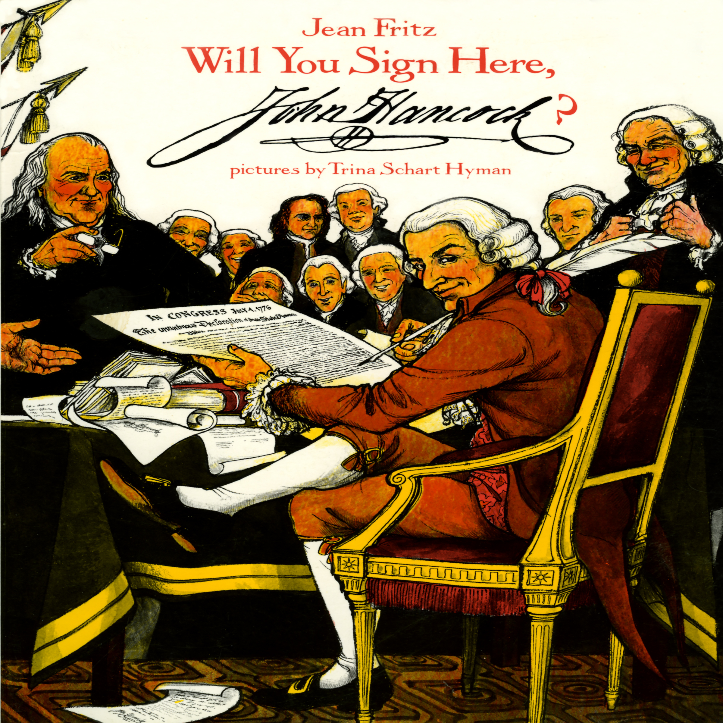 Printable Will You Sign Here, John Hancock? Audiobook Cover Art