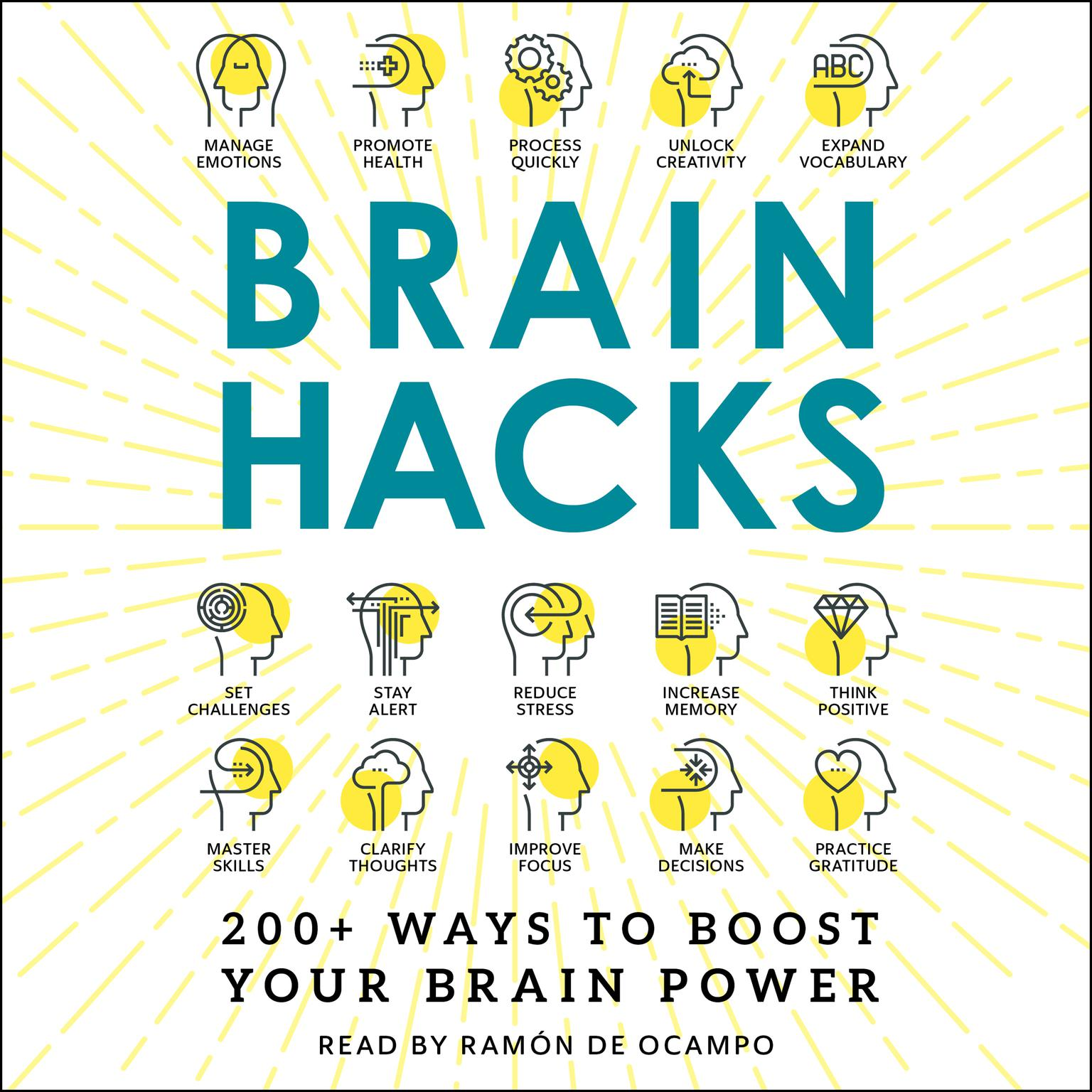 Printable Brain Hacks: 200+ Ways to Boost Your Brain Power Audiobook Cover Art