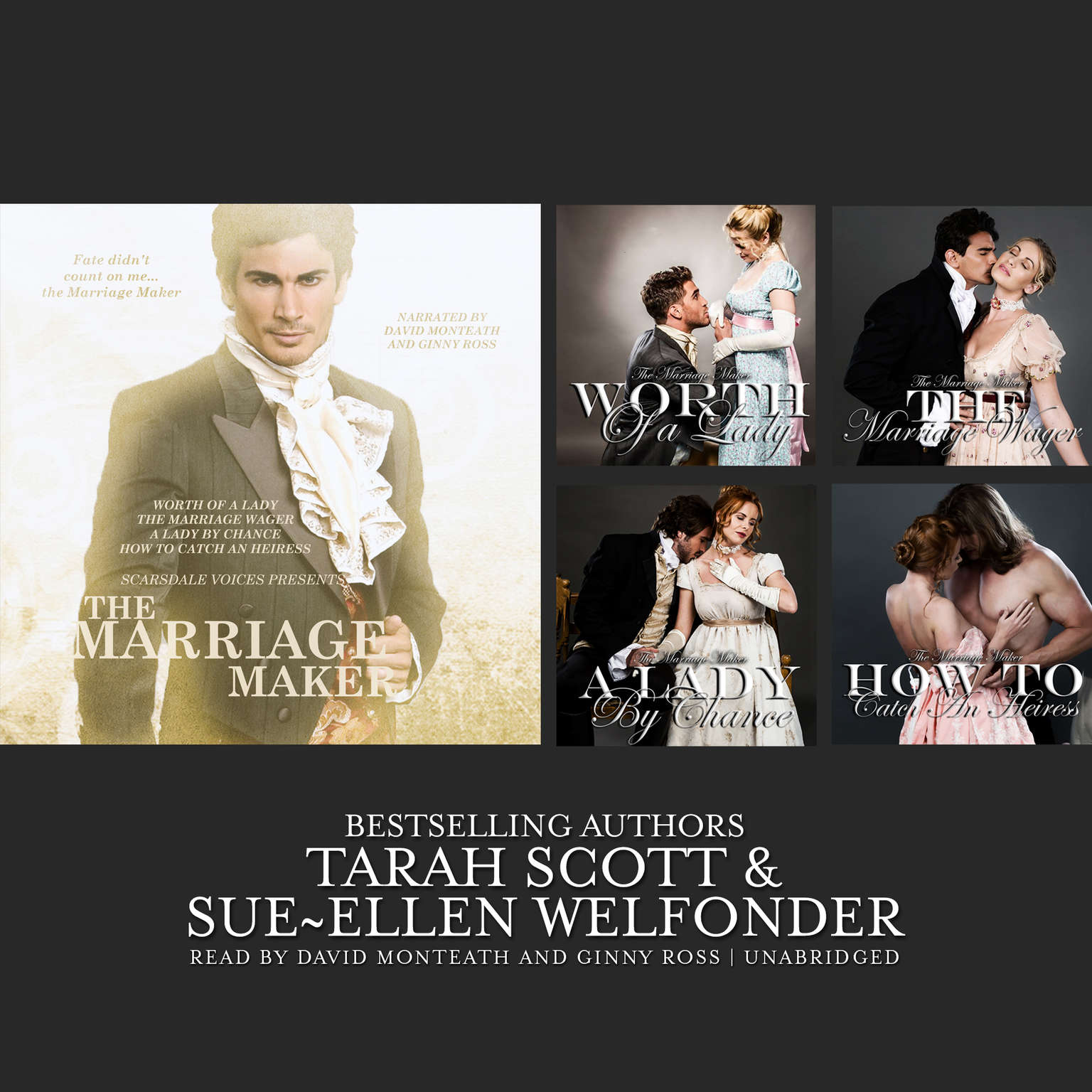 The Marriage Maker, Vol. 1: Worth of a Lady, The Marriage Wager, A Lady by Chance, How to Catch an Heiress Audiobook, by Sue-Ellen Welfonder