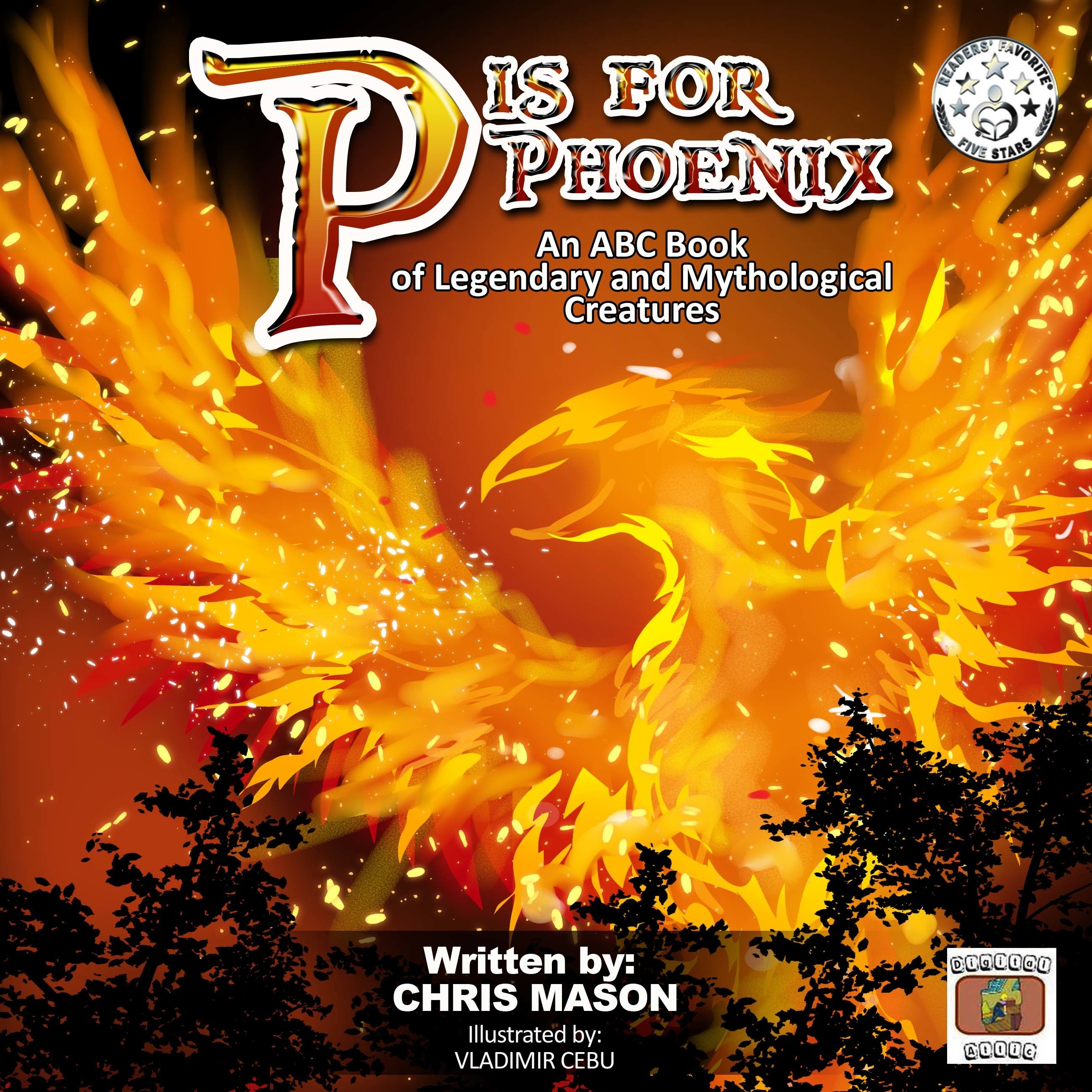 Printable P is For Phoenix: An ABC Book of Legendary and Mythological Creatures Audiobook Cover Art