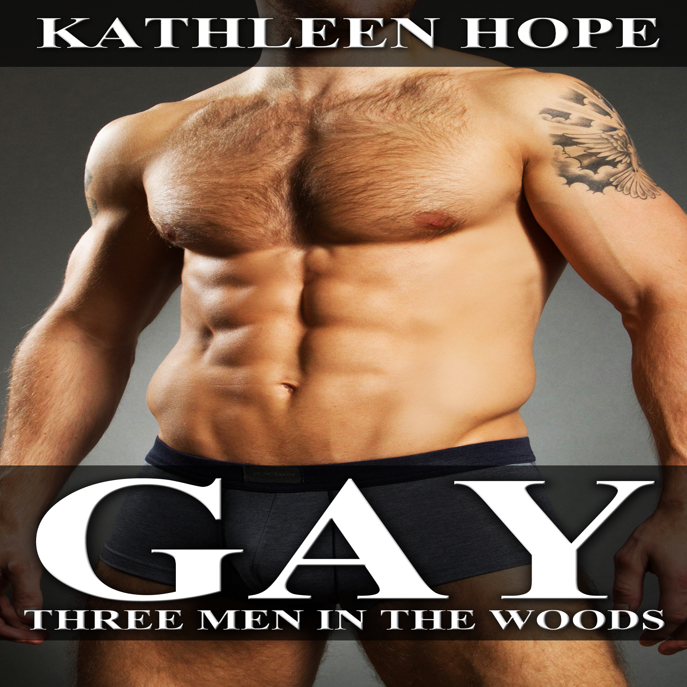Printable Gay: Three Men in the Woods Audiobook Cover Art