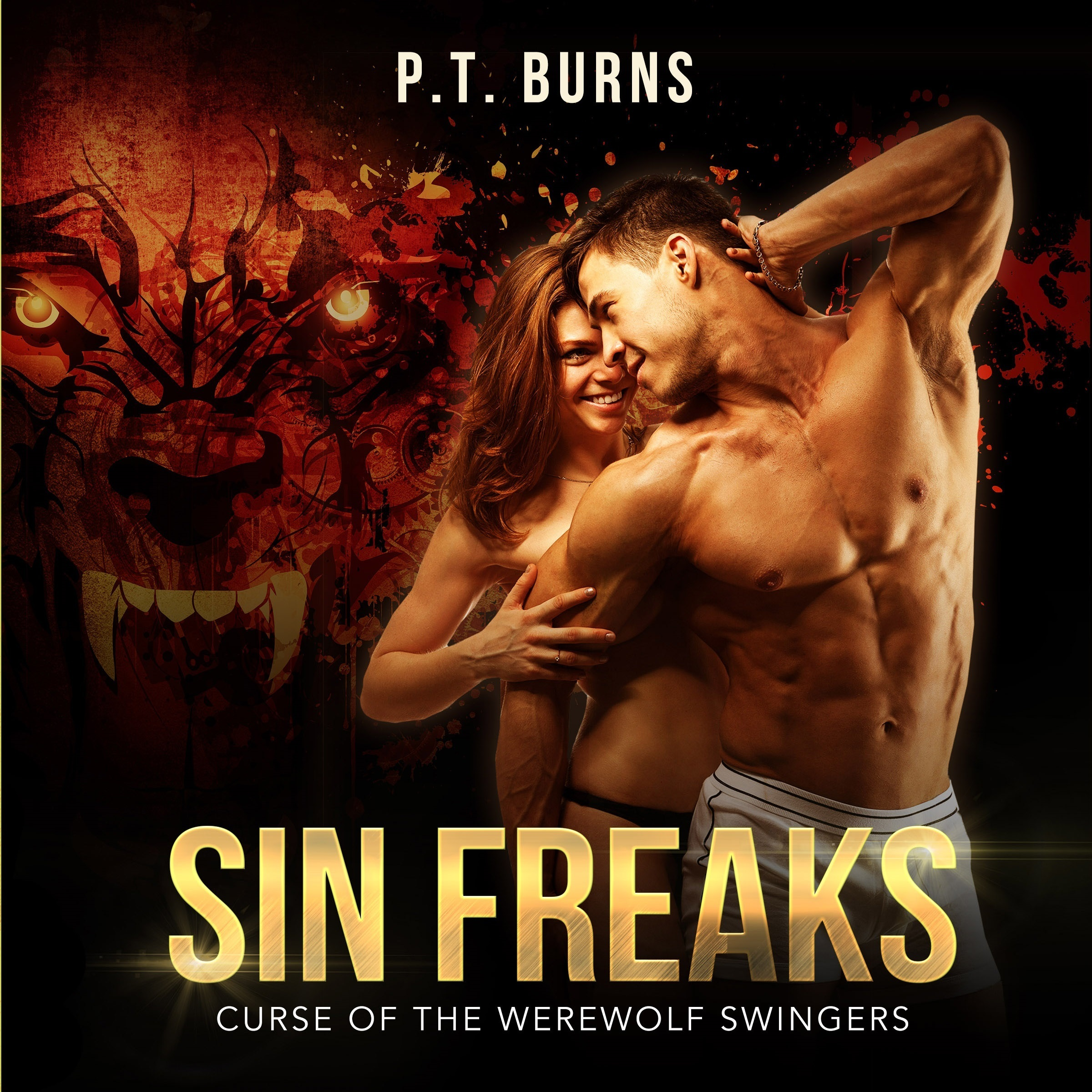 Printable Sin Freaks: Curse of the Werewolf Swingers Audiobook Cover Art