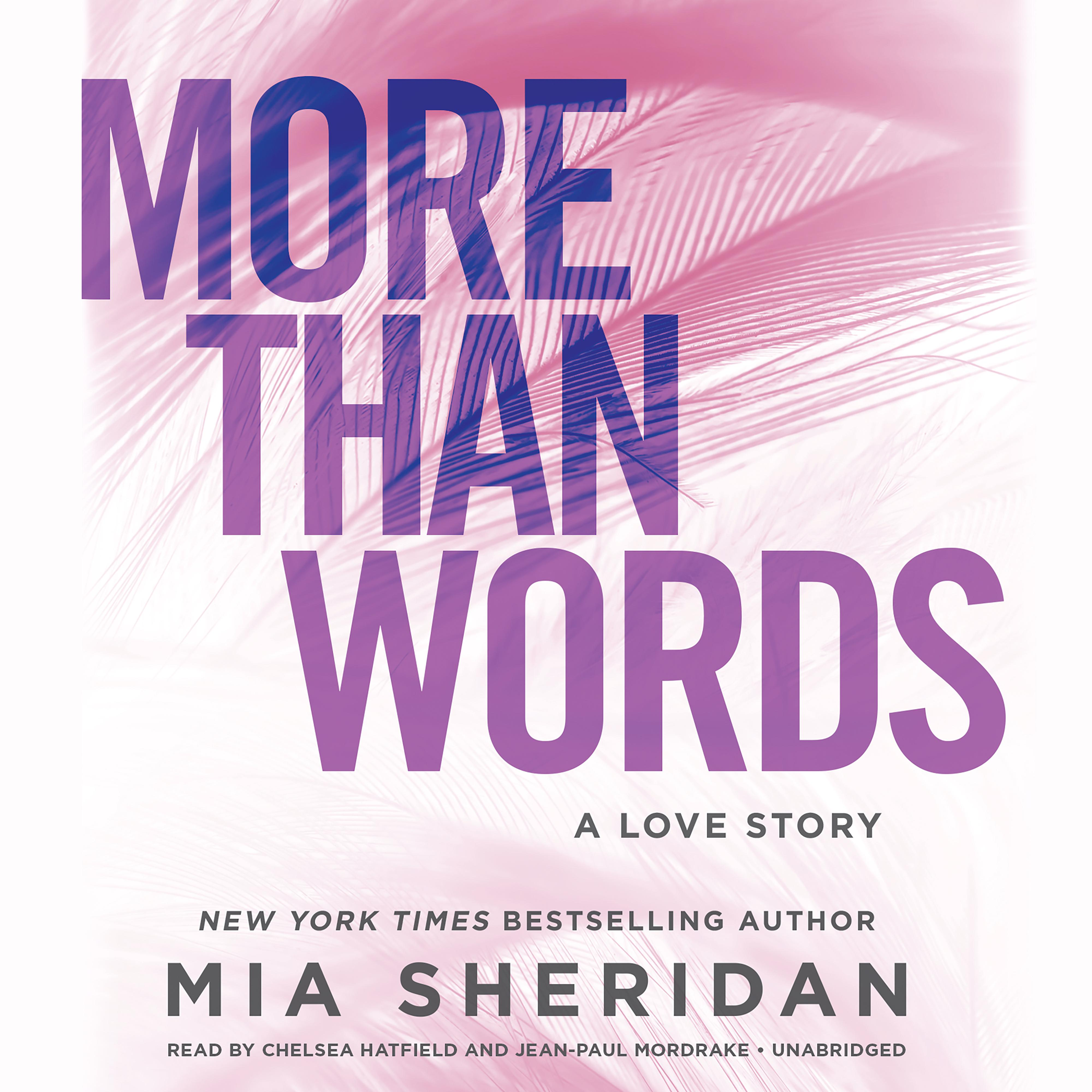 Printable More Than Words: A Love Story Audiobook Cover Art