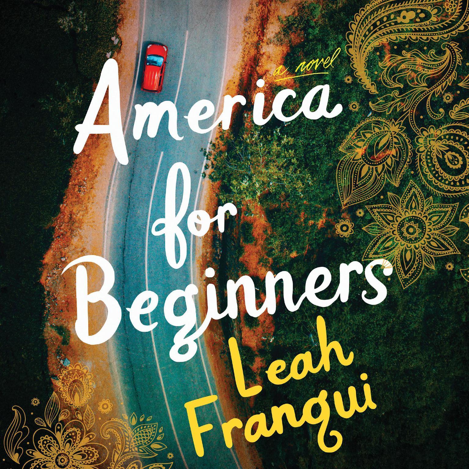 Printable America for Beginners: A Novel Audiobook Cover Art