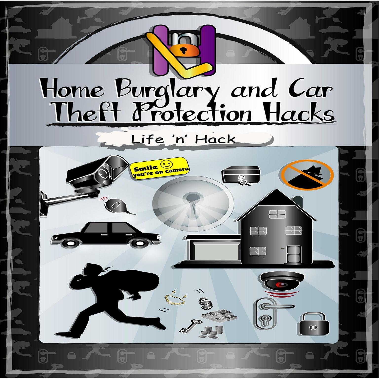 Printable Home Burglary and Car Theft Protection Hacks Audiobook Cover Art