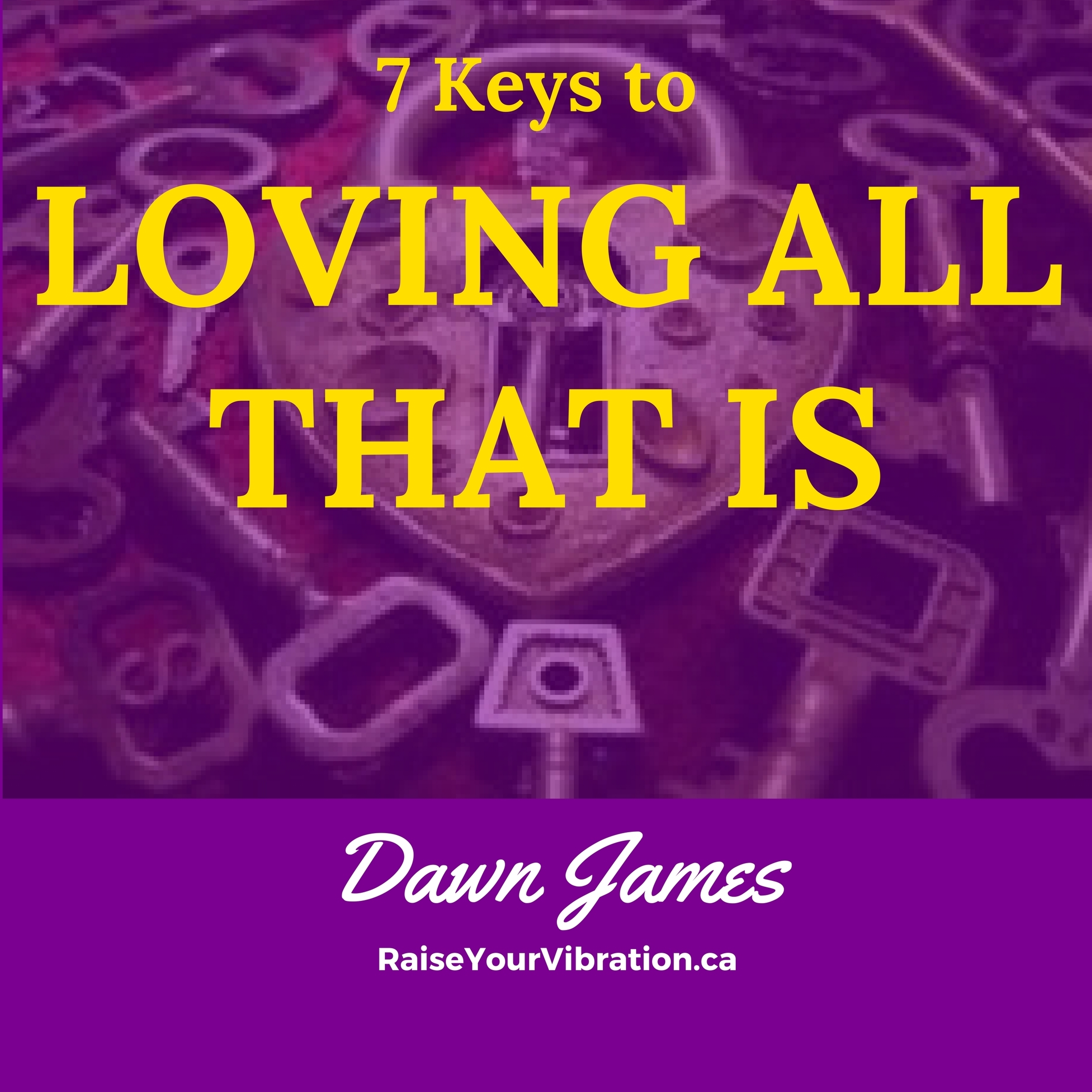 Printable 7 Keys to Loving All That Is Audiobook Cover Art