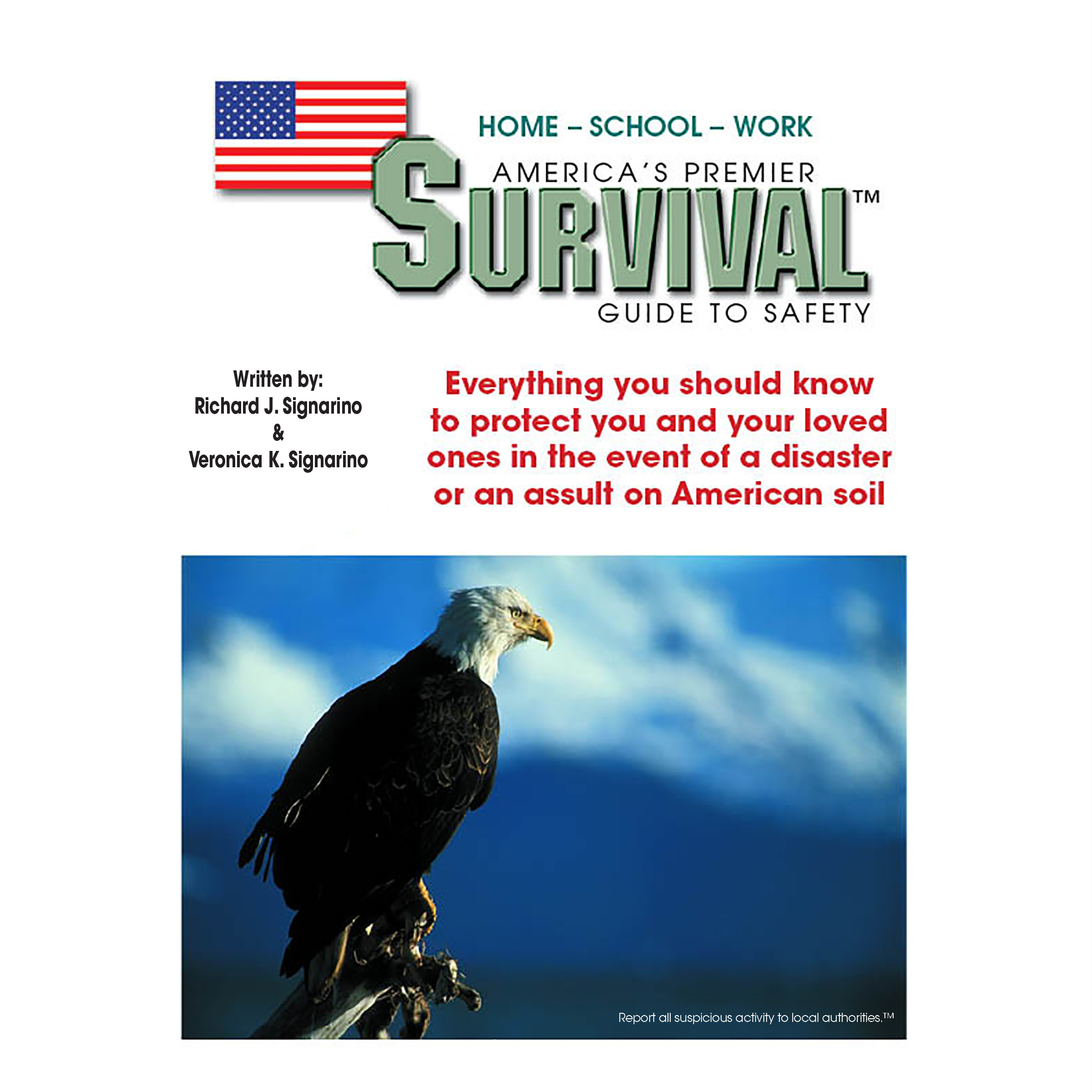 Printable America's Premier Survival Guide to Safety Audiobook Cover Art