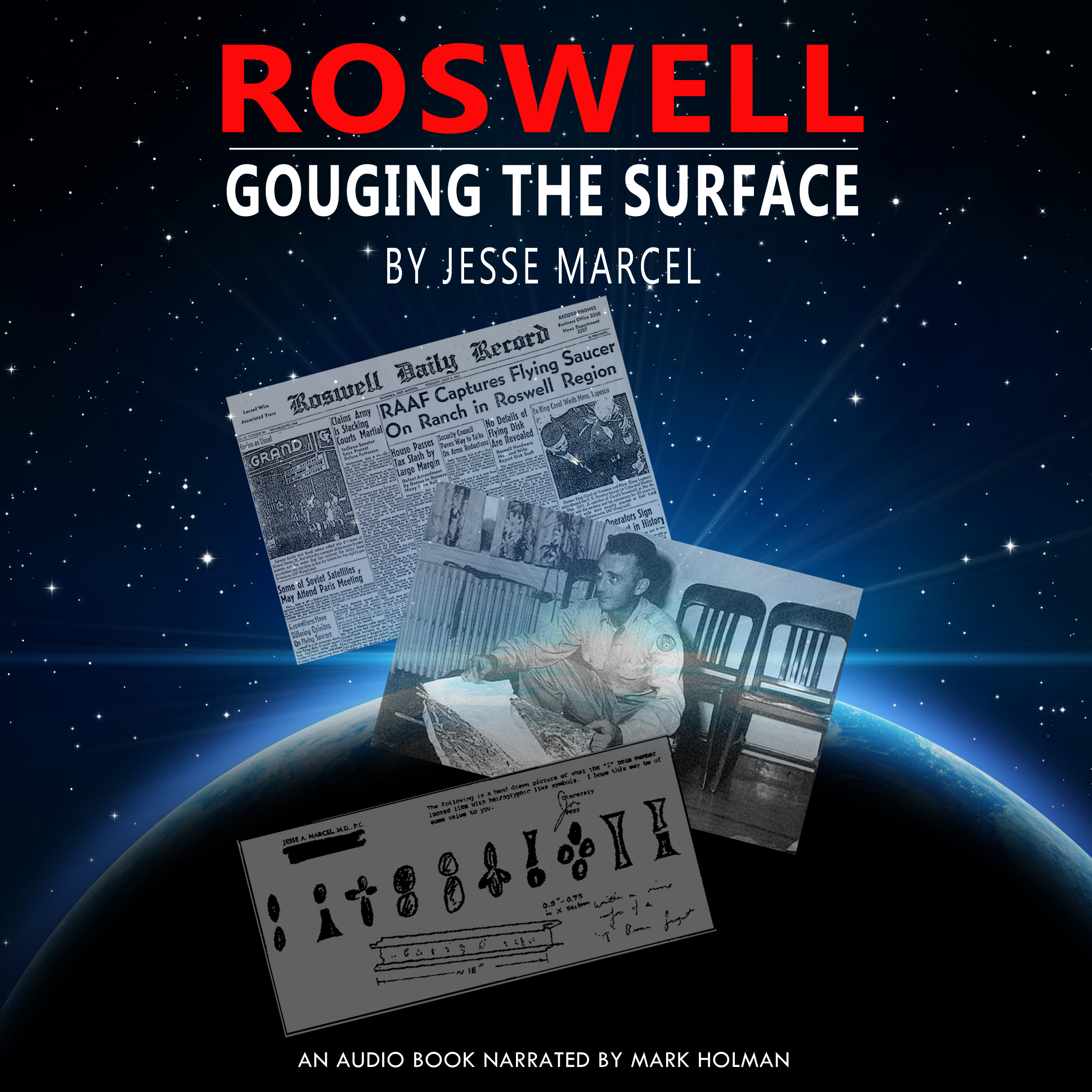 Printable Roswell: Gouging the Surface Audiobook Cover Art