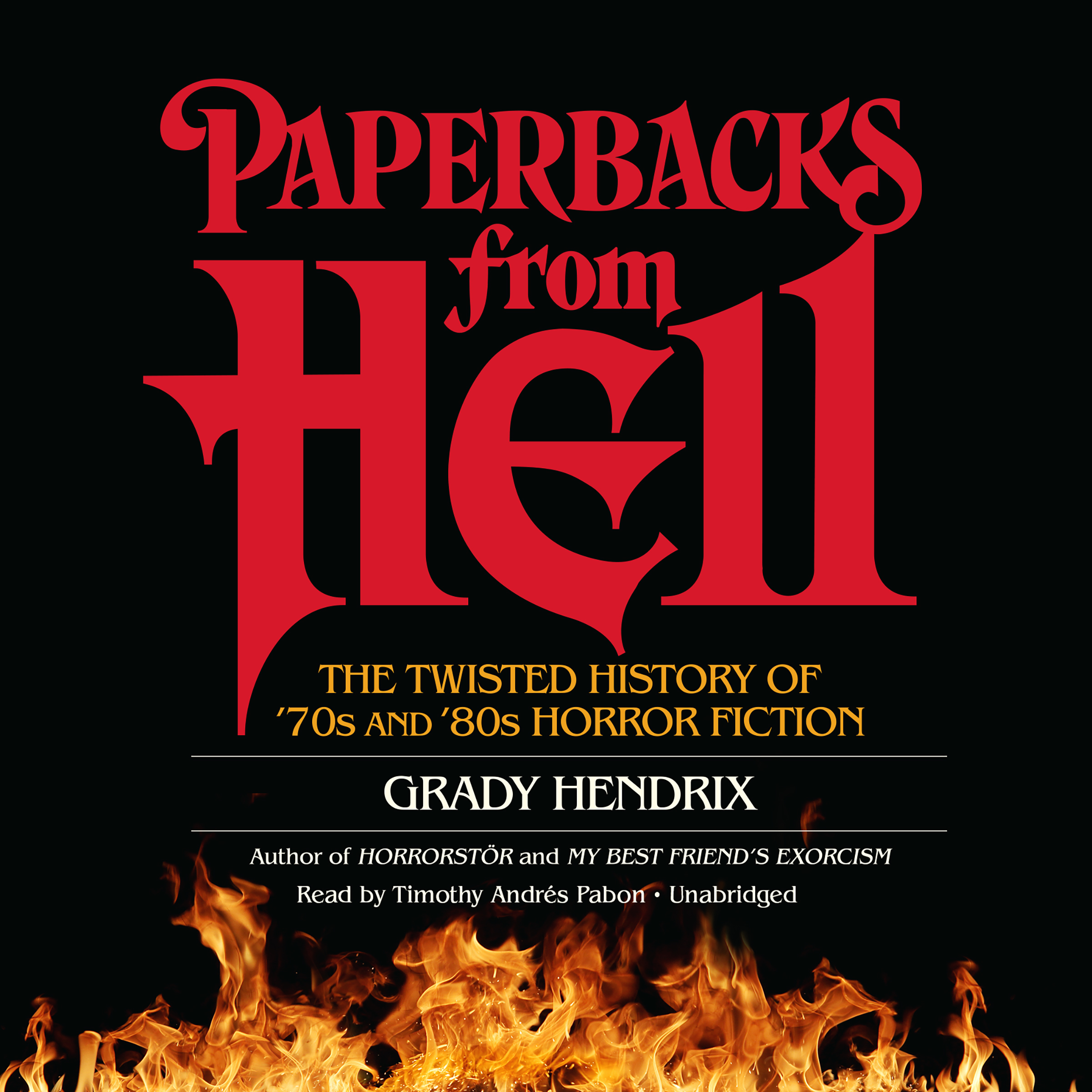 Printable Paperbacks from Hell: The Twisted History of '70s and '80s Horror Fiction Audiobook Cover Art