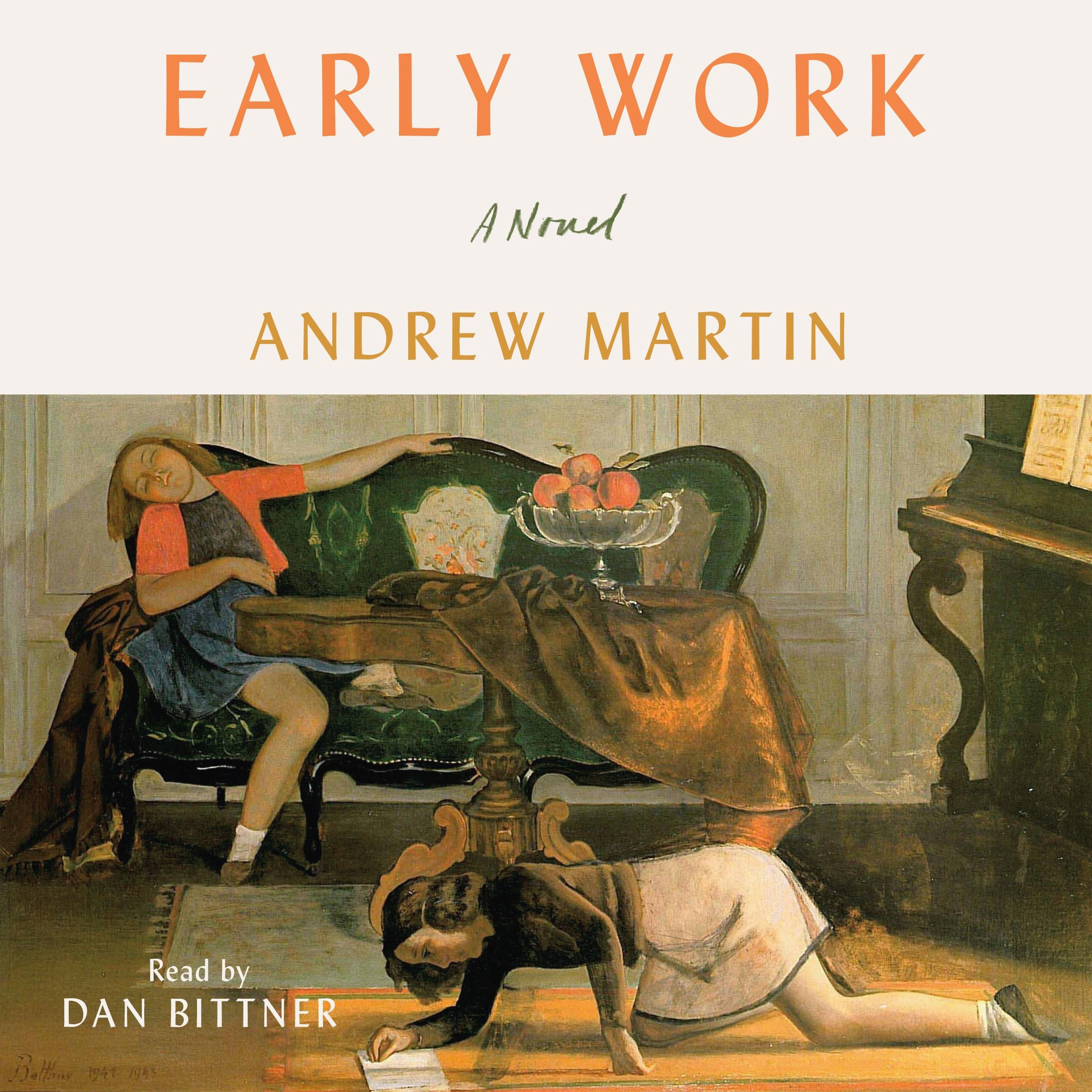 Printable Early Work: A Novel Audiobook Cover Art
