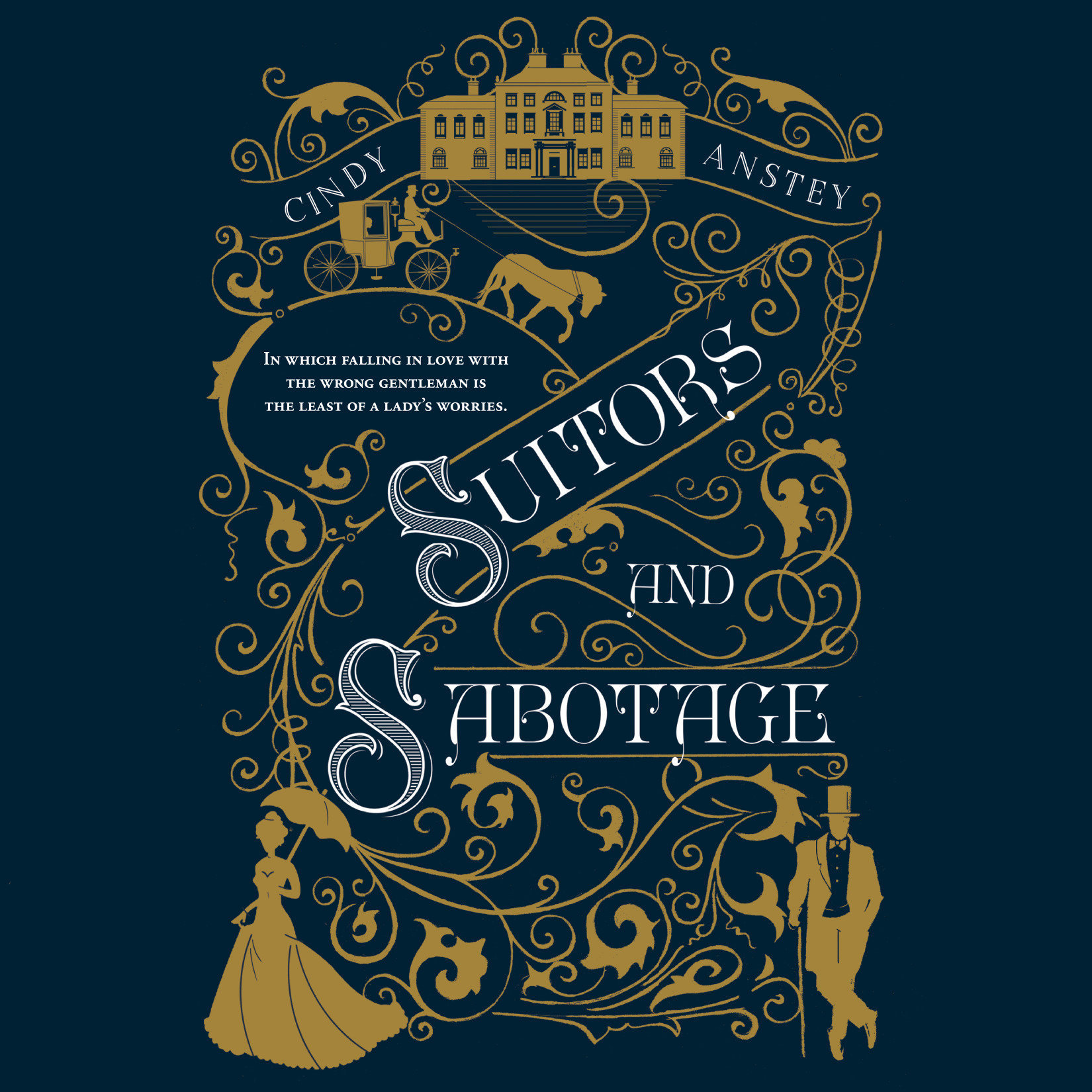 Printable Suitors and Sabotage Audiobook Cover Art