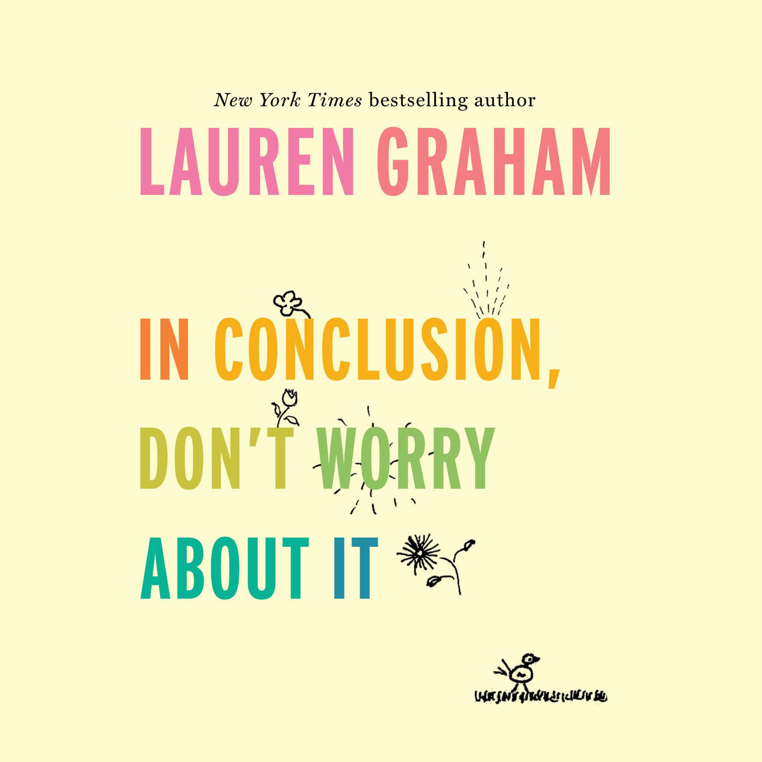 Printable In Conclusion, Don't Worry About It Audiobook Cover Art