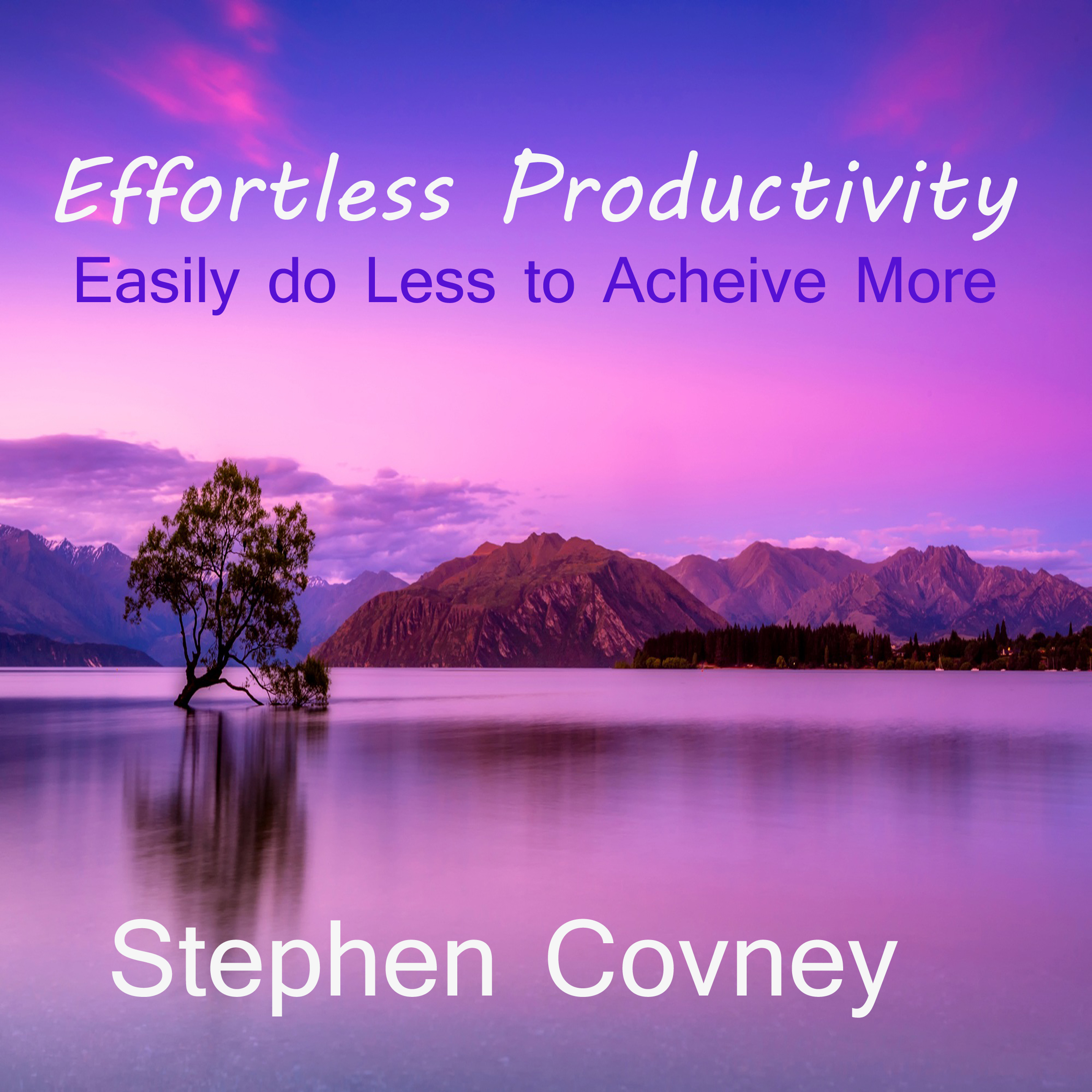 Printable Effortless Productivity Audiobook Cover Art