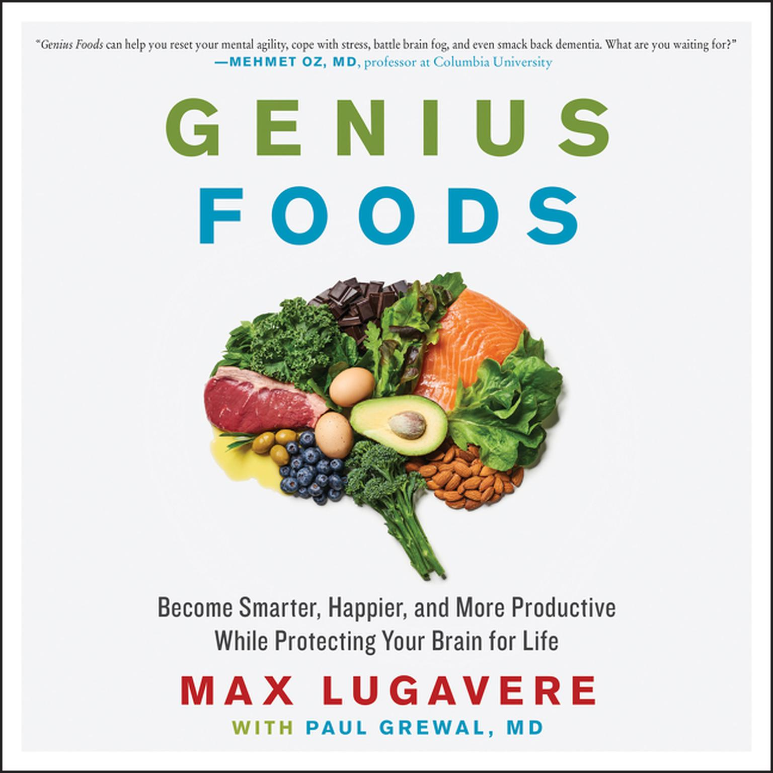 Printable Genius Foods: Become Smarter, Happier, and More Productive While Protecting Your Brain for Life Audiobook Cover Art