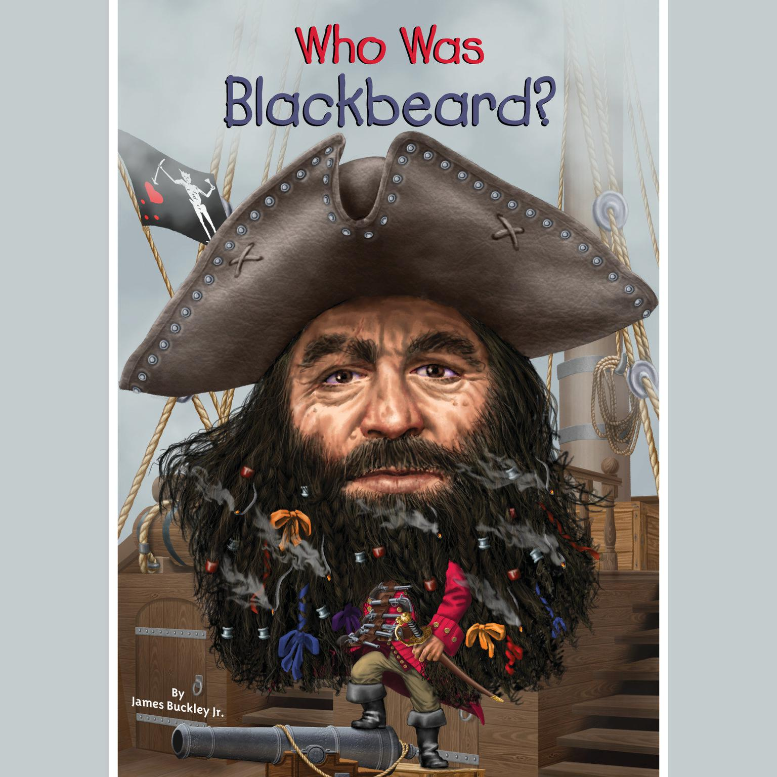 Printable Who Was Blackbeard? Audiobook Cover Art