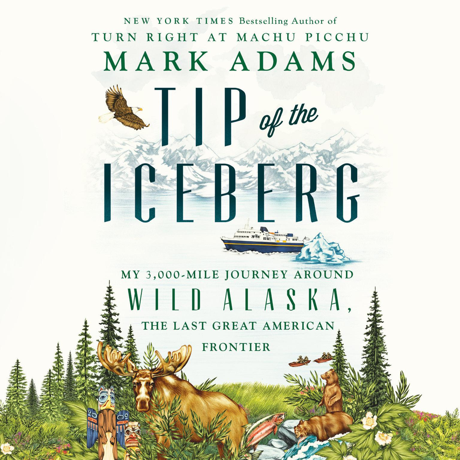 Printable Tip of the Iceberg: My 3,000-Mile Journey Around Wild Alaska, the Last Great American Frontier Audiobook Cover Art