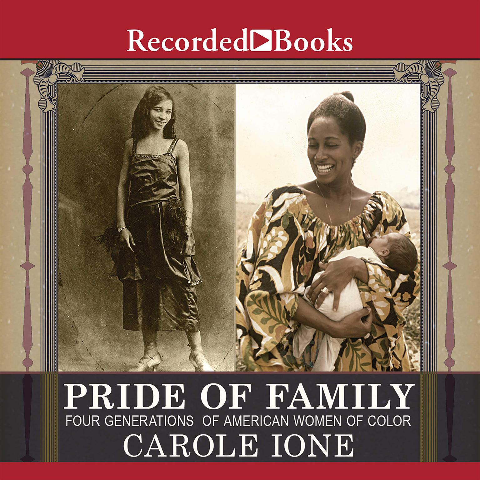 Printable Pride of Family: Four Generations of American Women of Color Audiobook Cover Art