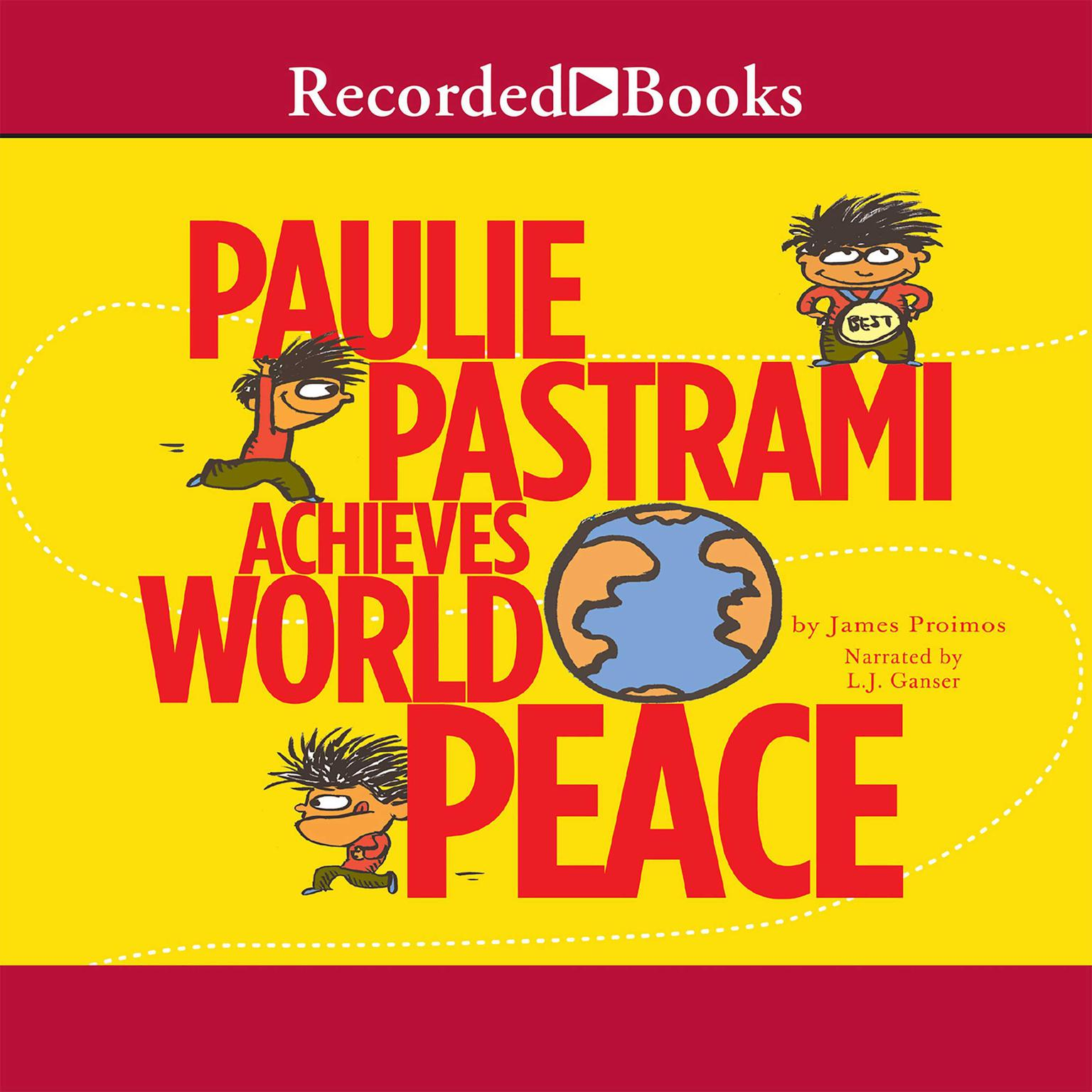 Printable Paulie Pastrami Achieves World Peace Audiobook Cover Art