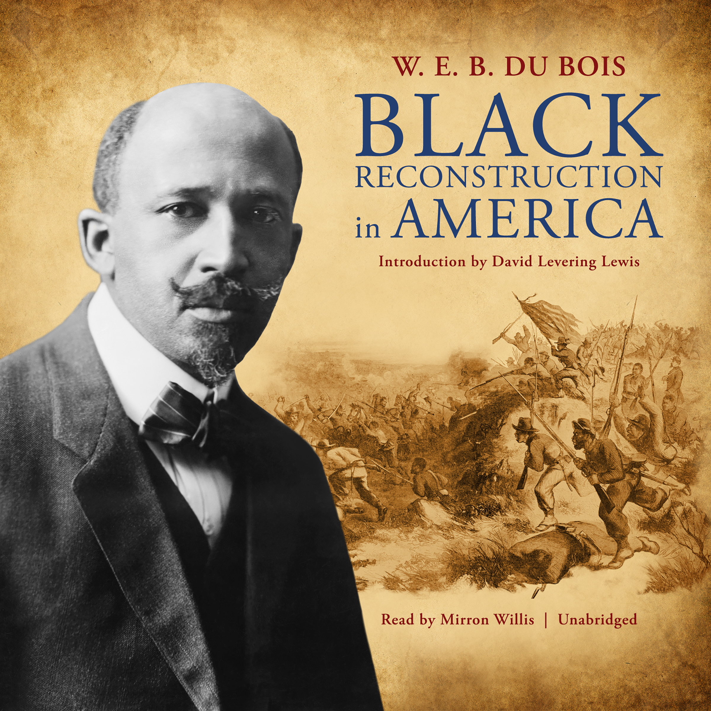 Printable Black Reconstruction in America Audiobook Cover Art