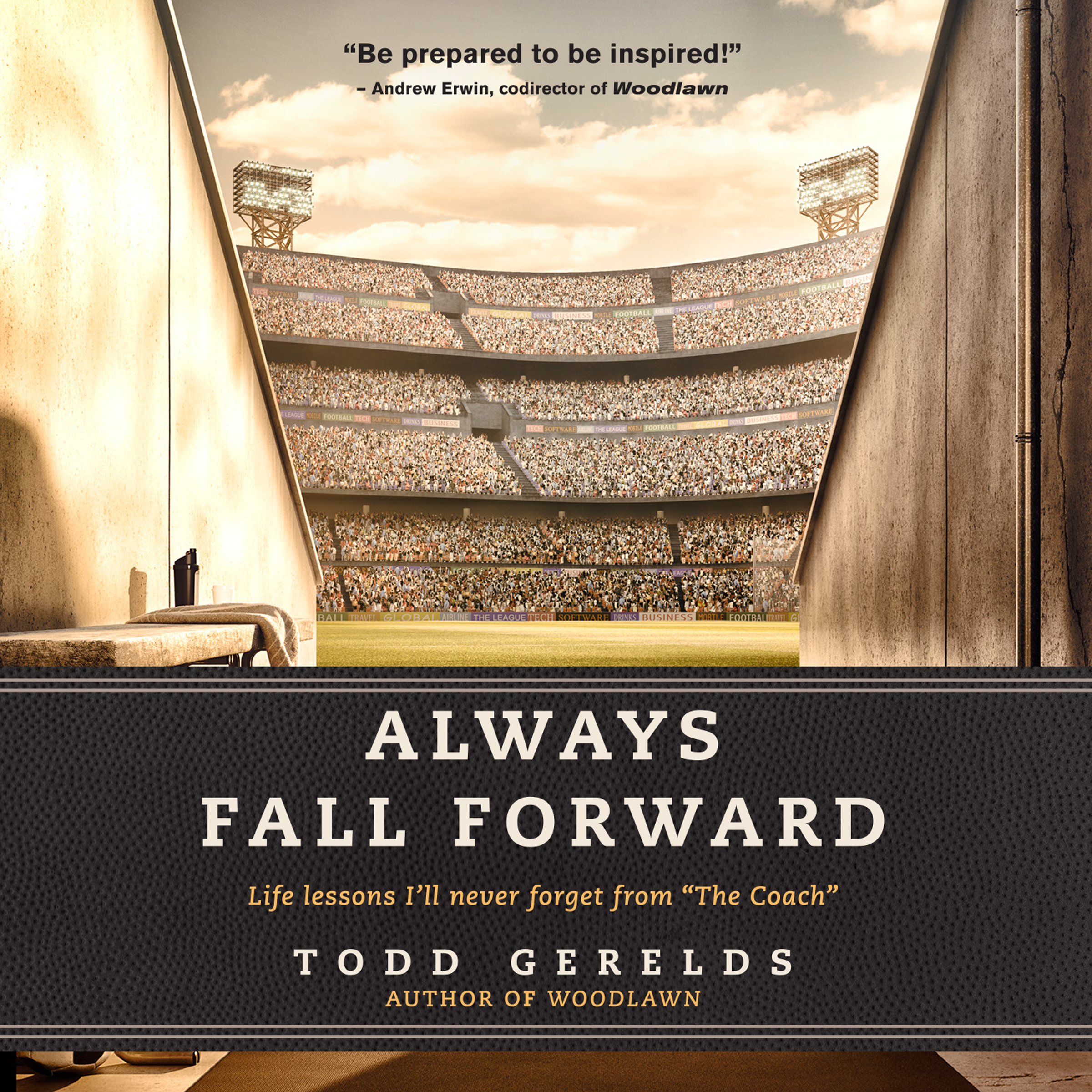 Printable Always Fall Forward: Life Lessons I'll Never Forget from 'The Coach' Audiobook Cover Art