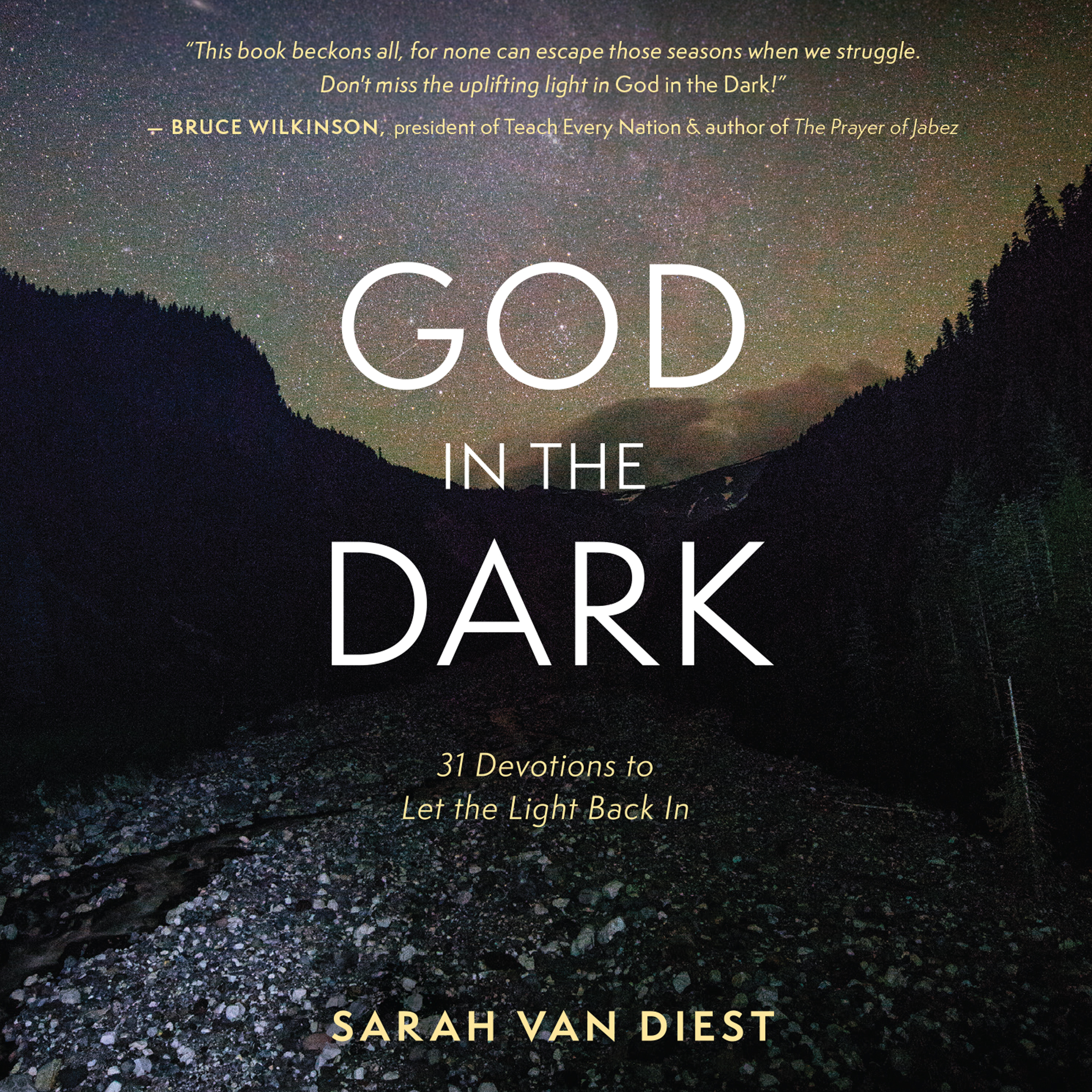 Printable God in the Dark: 31 Devotions to Let the Light Back In Audiobook Cover Art