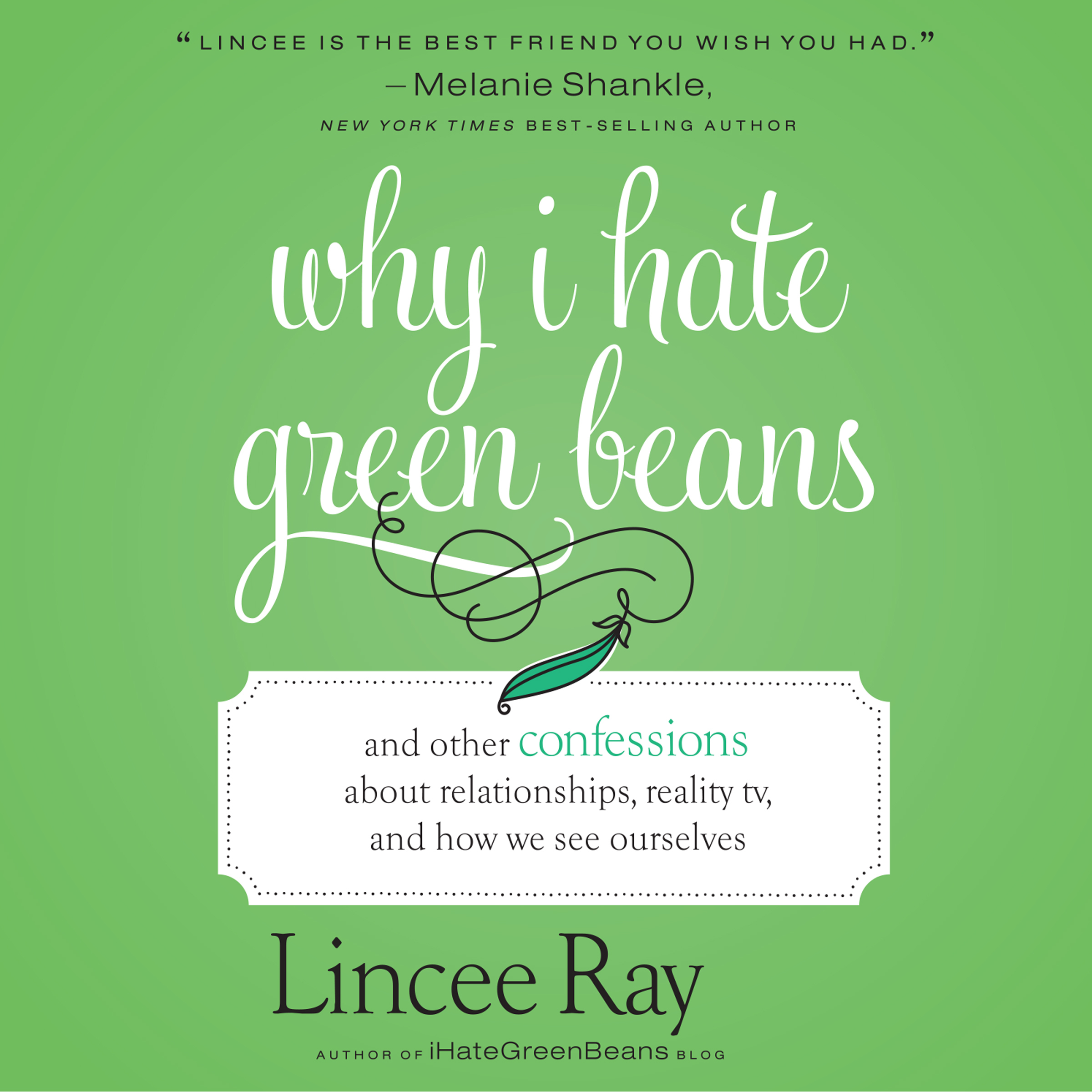 Printable Why I Hate Green Beans: And Other Confessions About Relationships, Reality TV, and How We See Ourselves Audiobook Cover Art