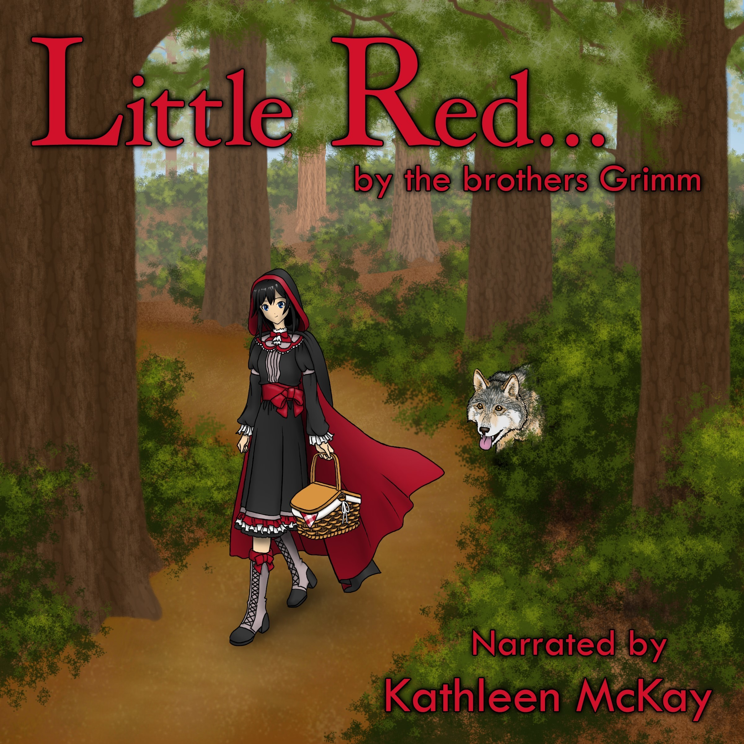 Printable Little Red... by The Brothers Grimm narrated by Kathleen McKay Audiobook Cover Art
