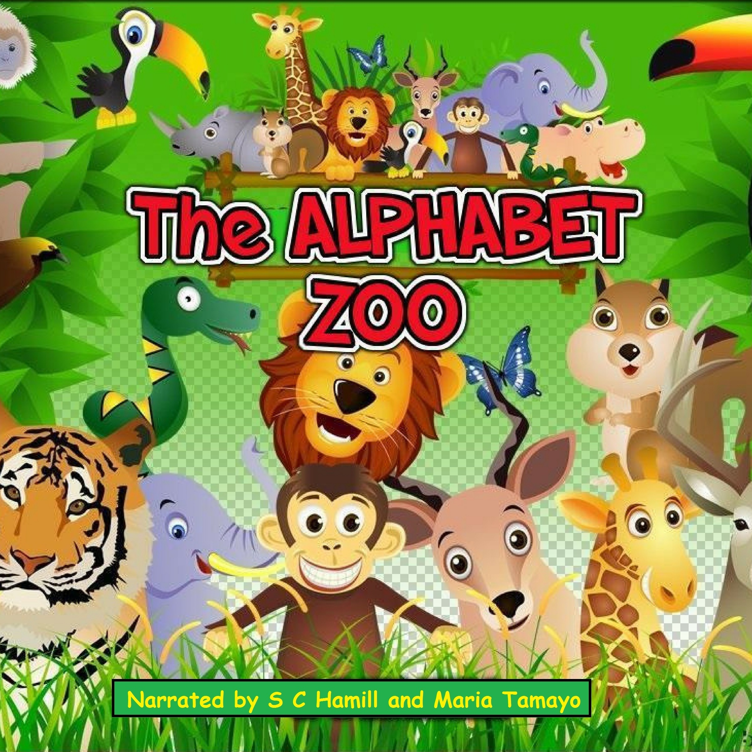 Printable The Alphabet Zoo. A to Z Children's Picture book. Children's rhymning books. Audiobook Cover Art