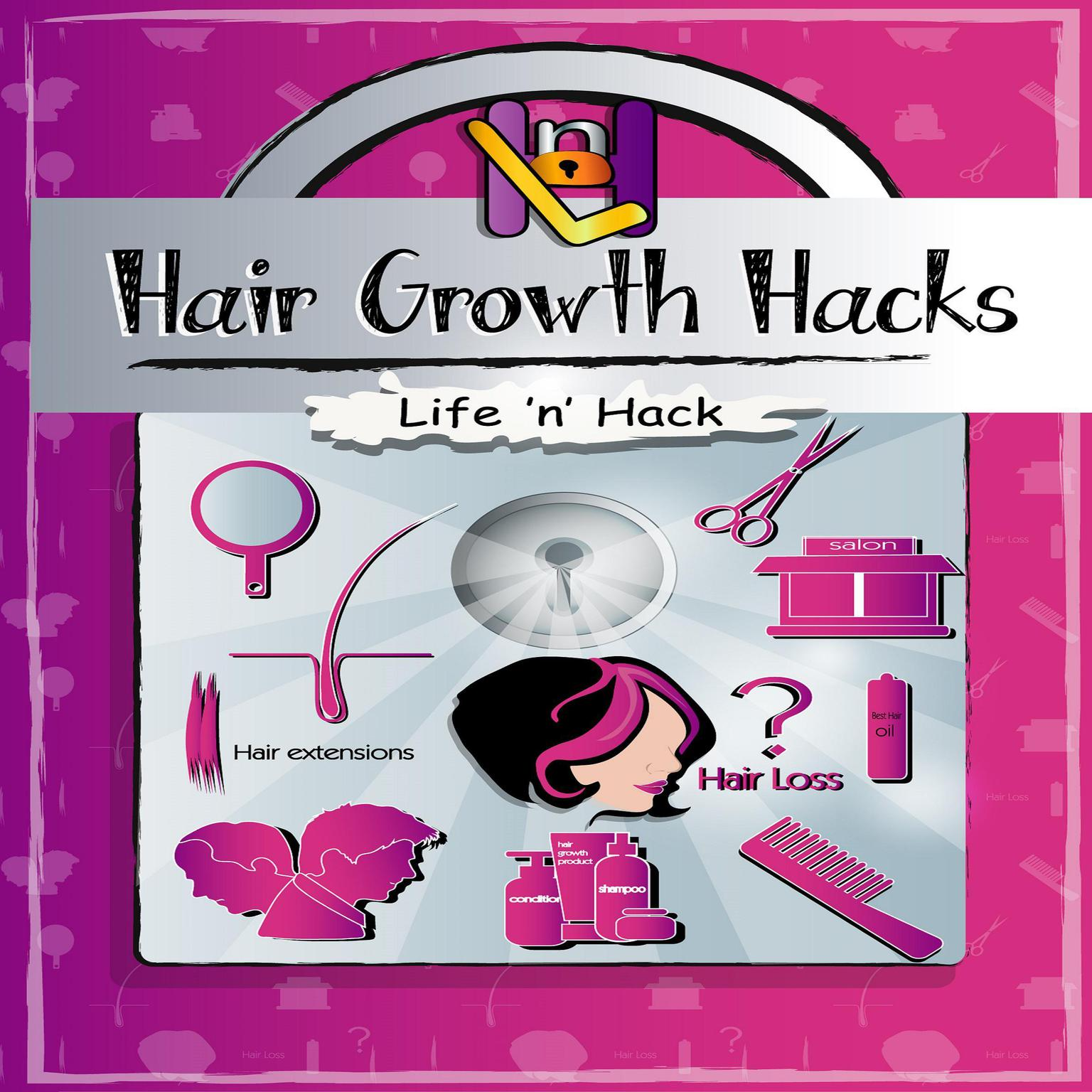 Printable Hair Growth Hacks: 15 Simple Practical Hacks to Stop Hair Loss and Grow Hair Faster Naturally Audiobook Cover Art