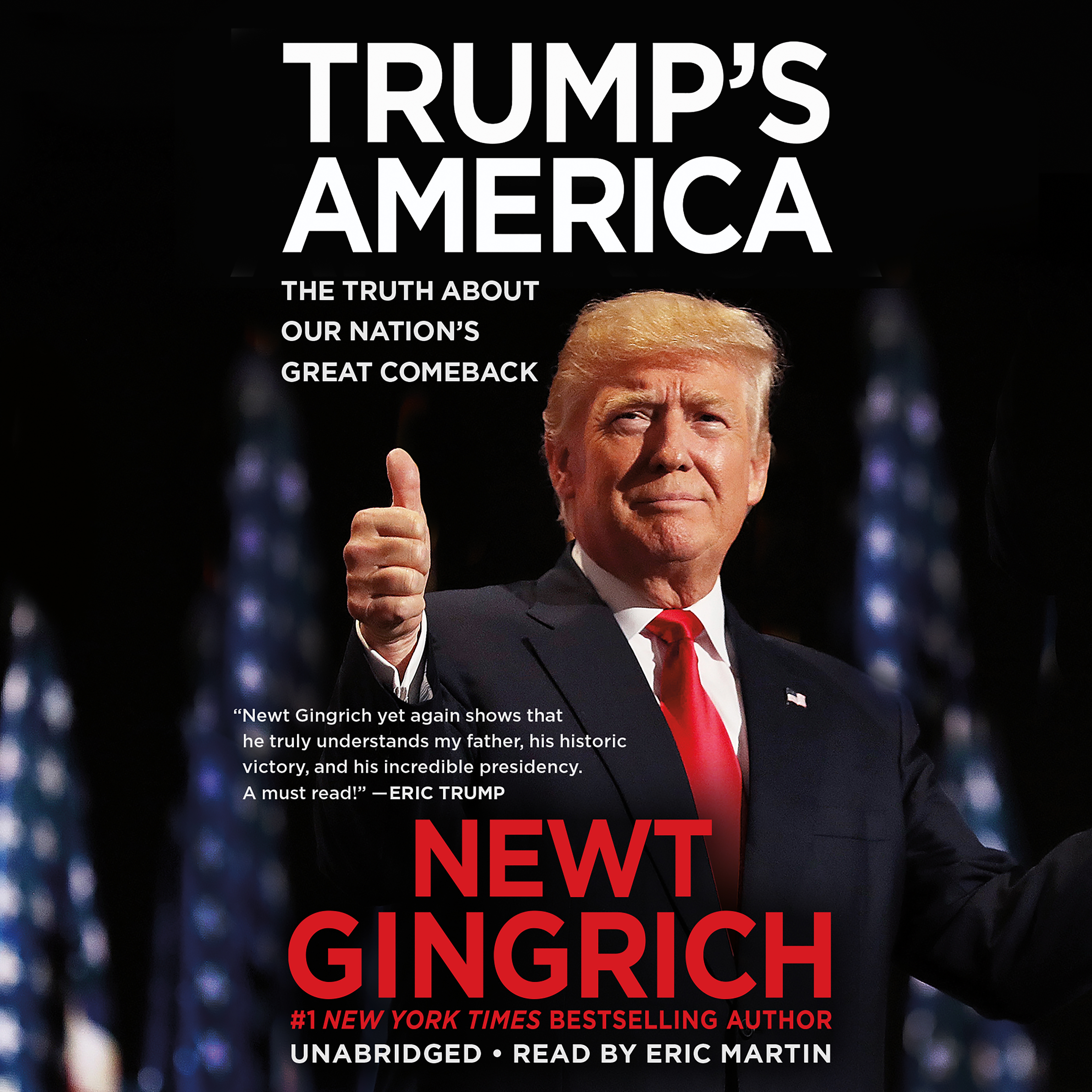 Printable Trump's America: The Truth about Our Nation's Great Comeback Audiobook Cover Art