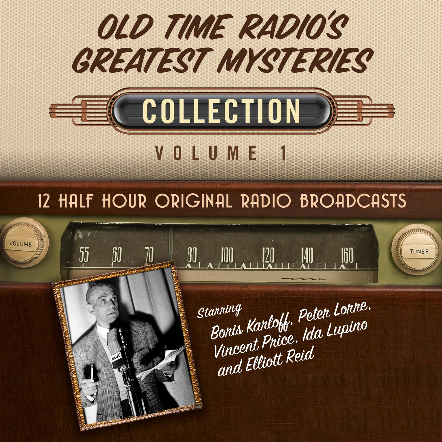 Printable Old Time Radio's Greatest Mysteries, Collection 1 Audiobook Cover Art