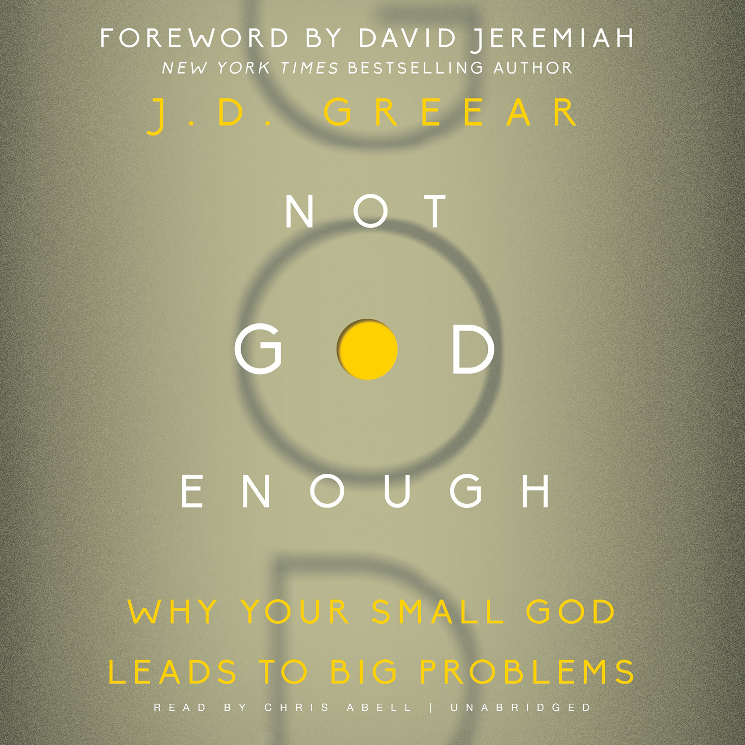 Printable Not God Enough: Why Your Small God Leads to Big Problems Audiobook Cover Art