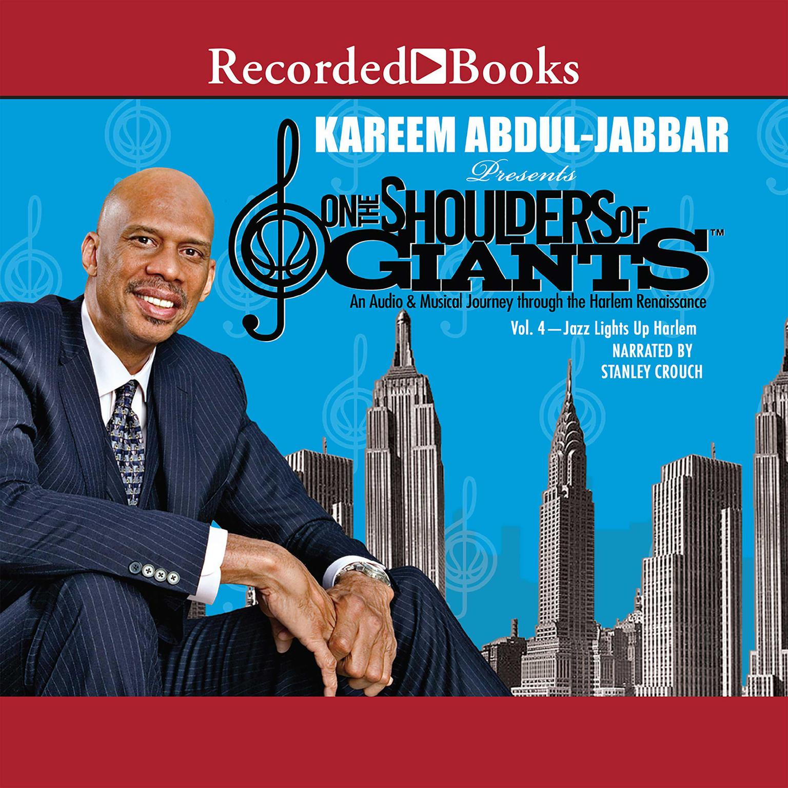 Printable On the Shoulders of Giants, Vol 4: Jazz Lights Up Harlem Audiobook Cover Art