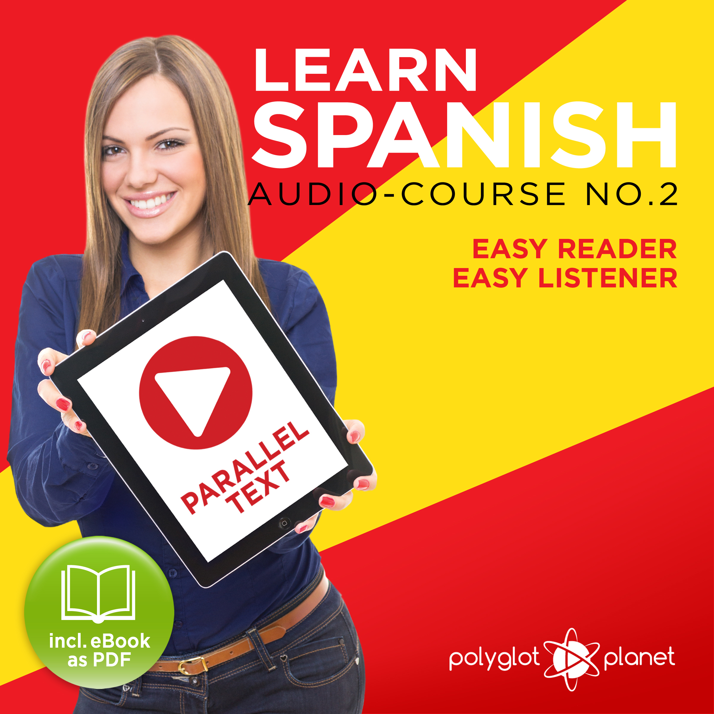 Printable Learn Spanish - Easy Reader - Easy Listener - Parallel Text Spanish Audio Course No. 2 - The Spanish Easy Reader - Easy Audio Learning Course Audiobook Cover Art