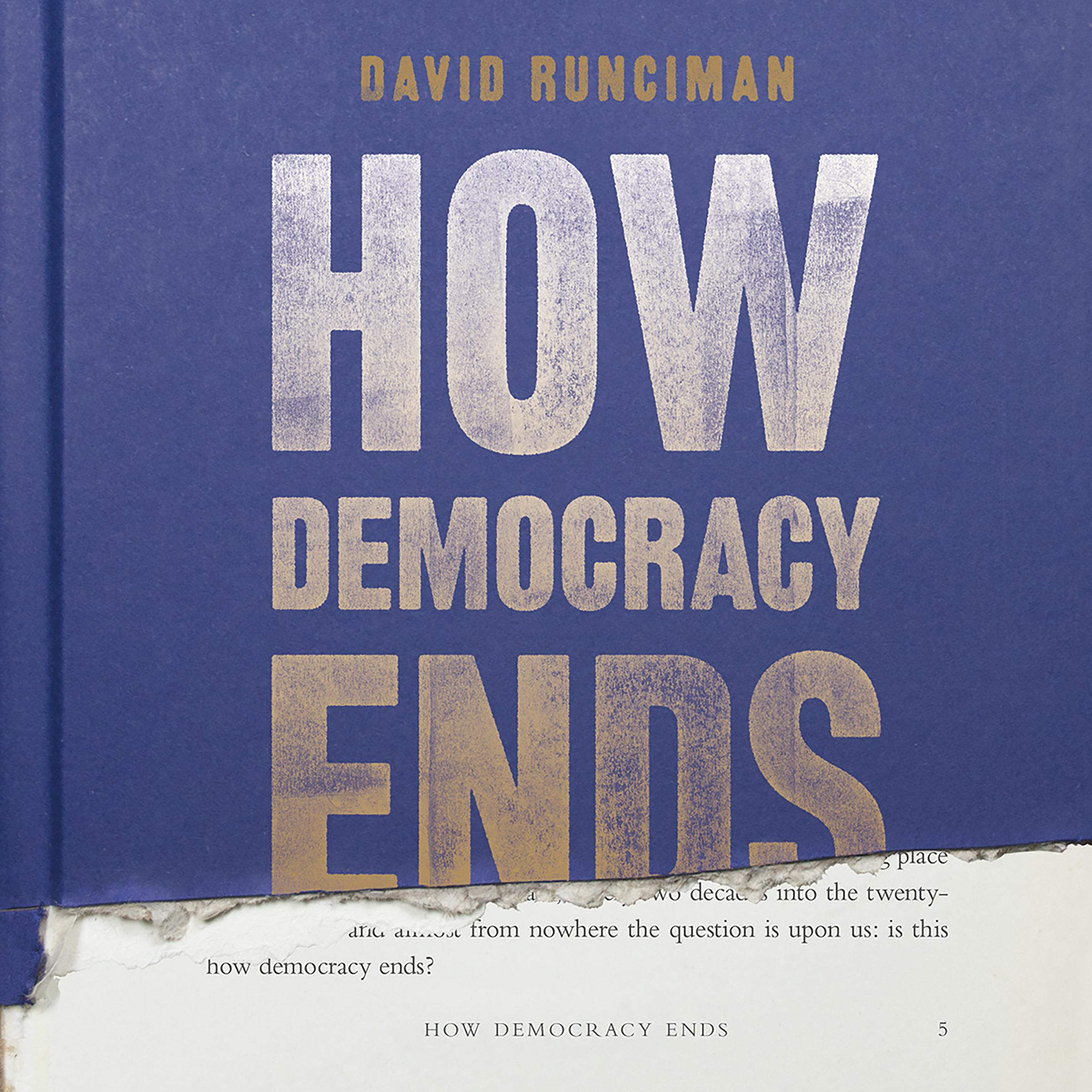 Printable How Democracy Ends Audiobook Cover Art