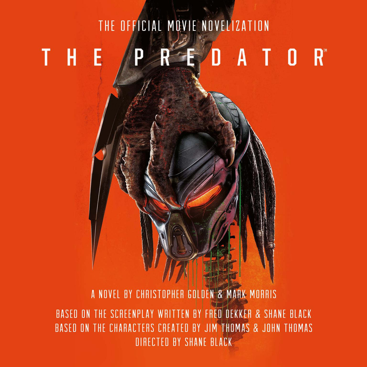 Printable The Predator: The Official Movie Novelization Audiobook Cover Art