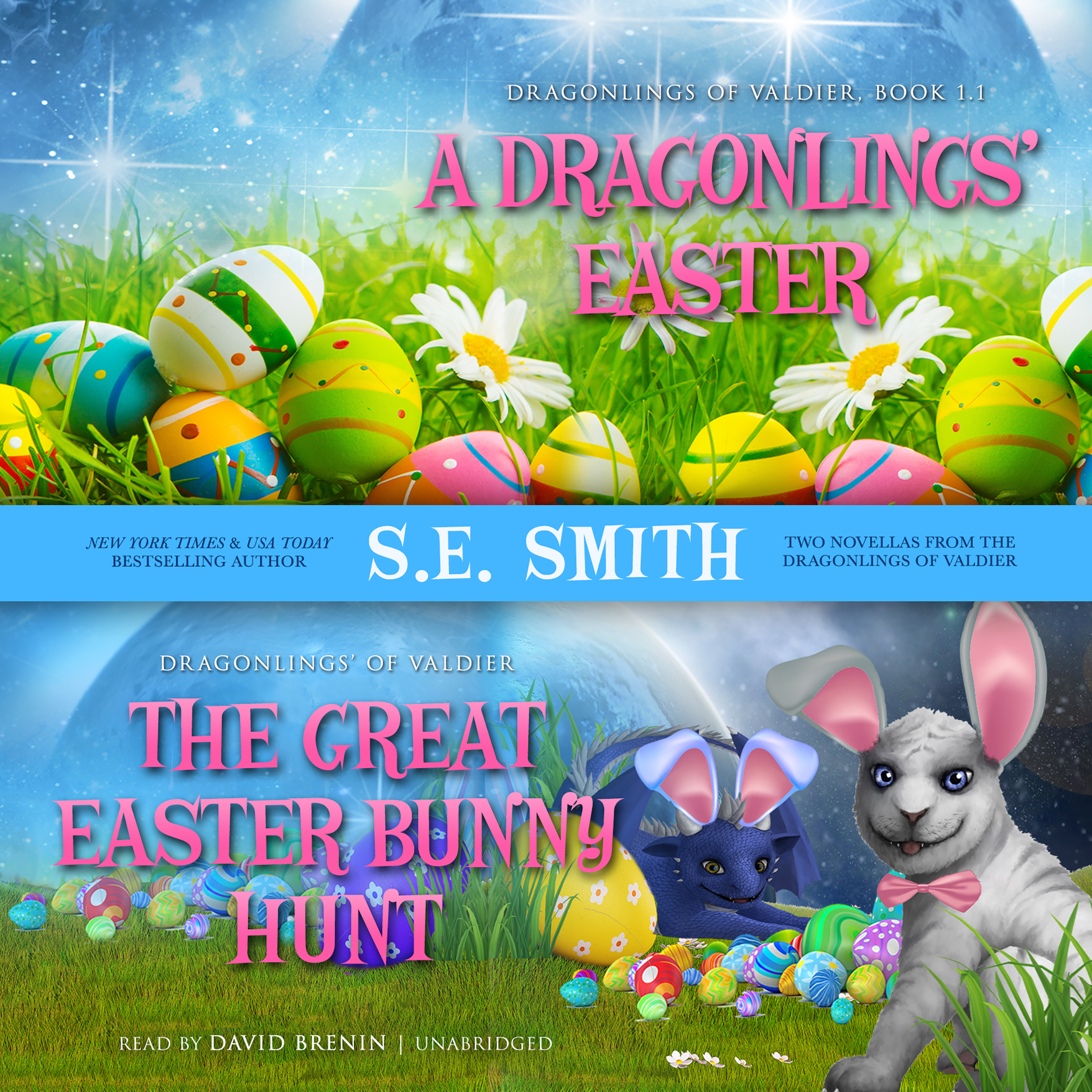 Printable A Dragonlings' Easter and The Great Easter Bunny Hunt Audiobook Cover Art