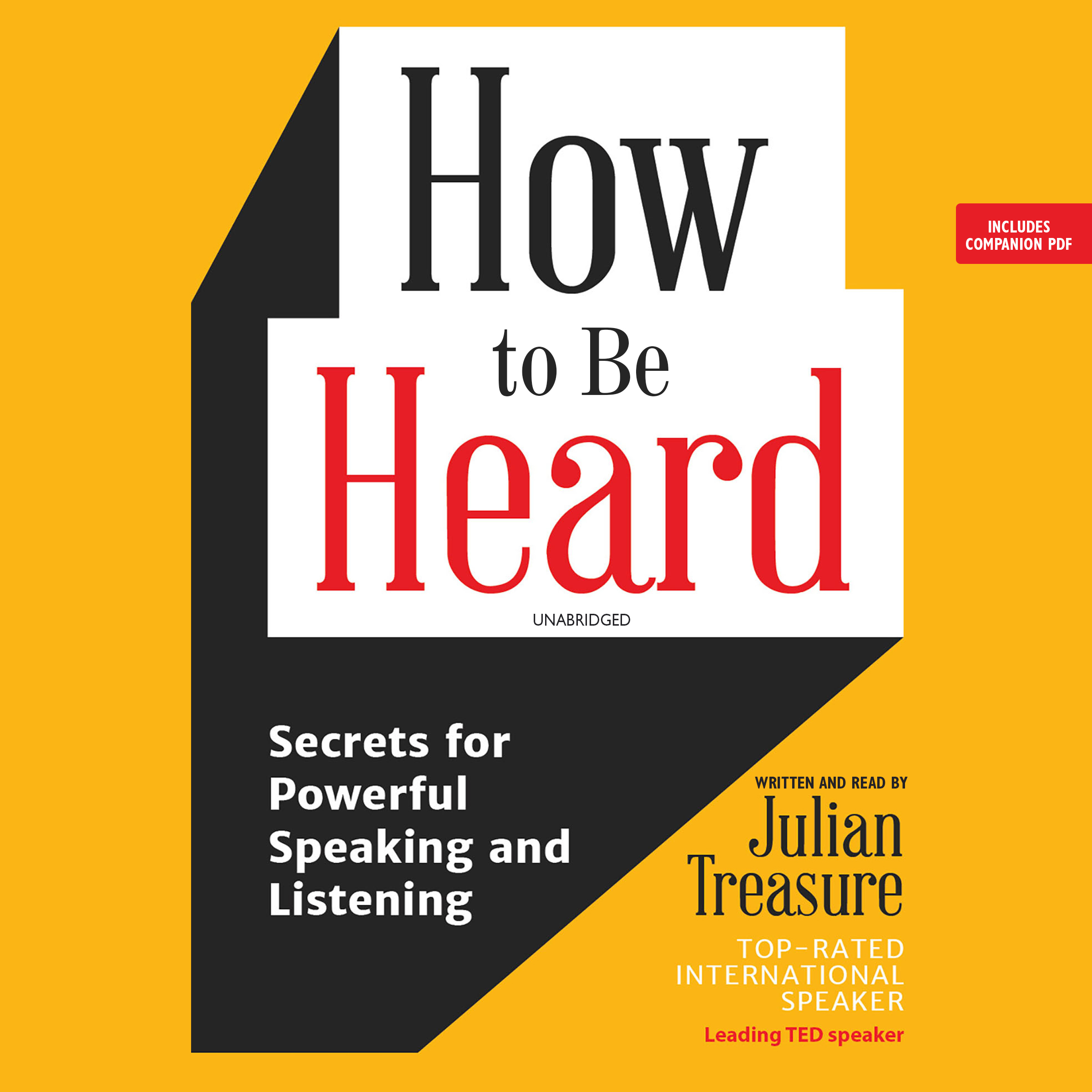 Printable How to Be Heard: Secrets for Powerful Speaking and Listening Audiobook Cover Art