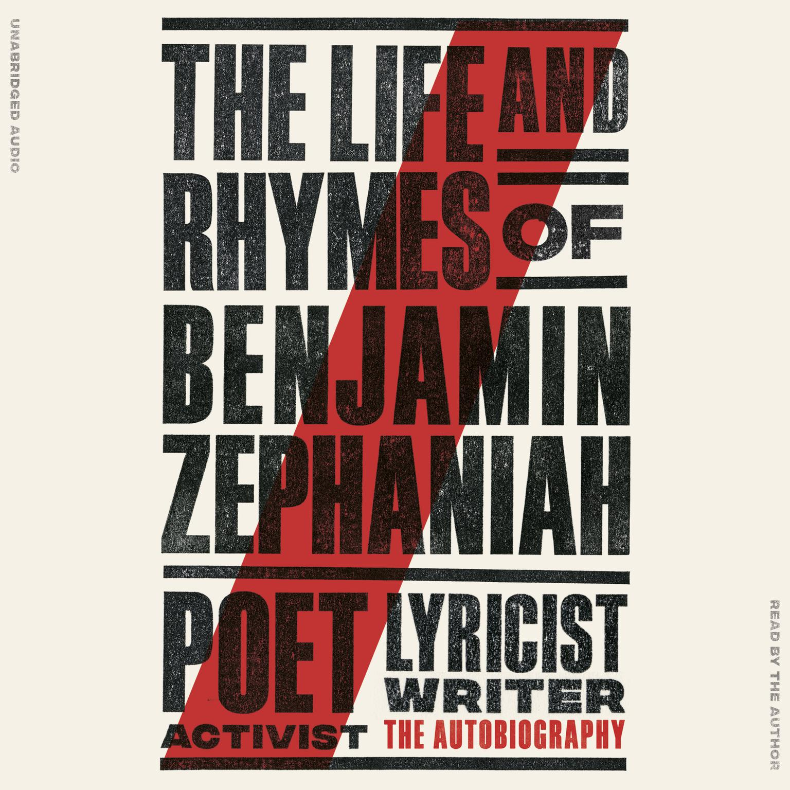 Printable The Life and Rhymes of Benjamin Zephaniah: The Autobiography Audiobook Cover Art