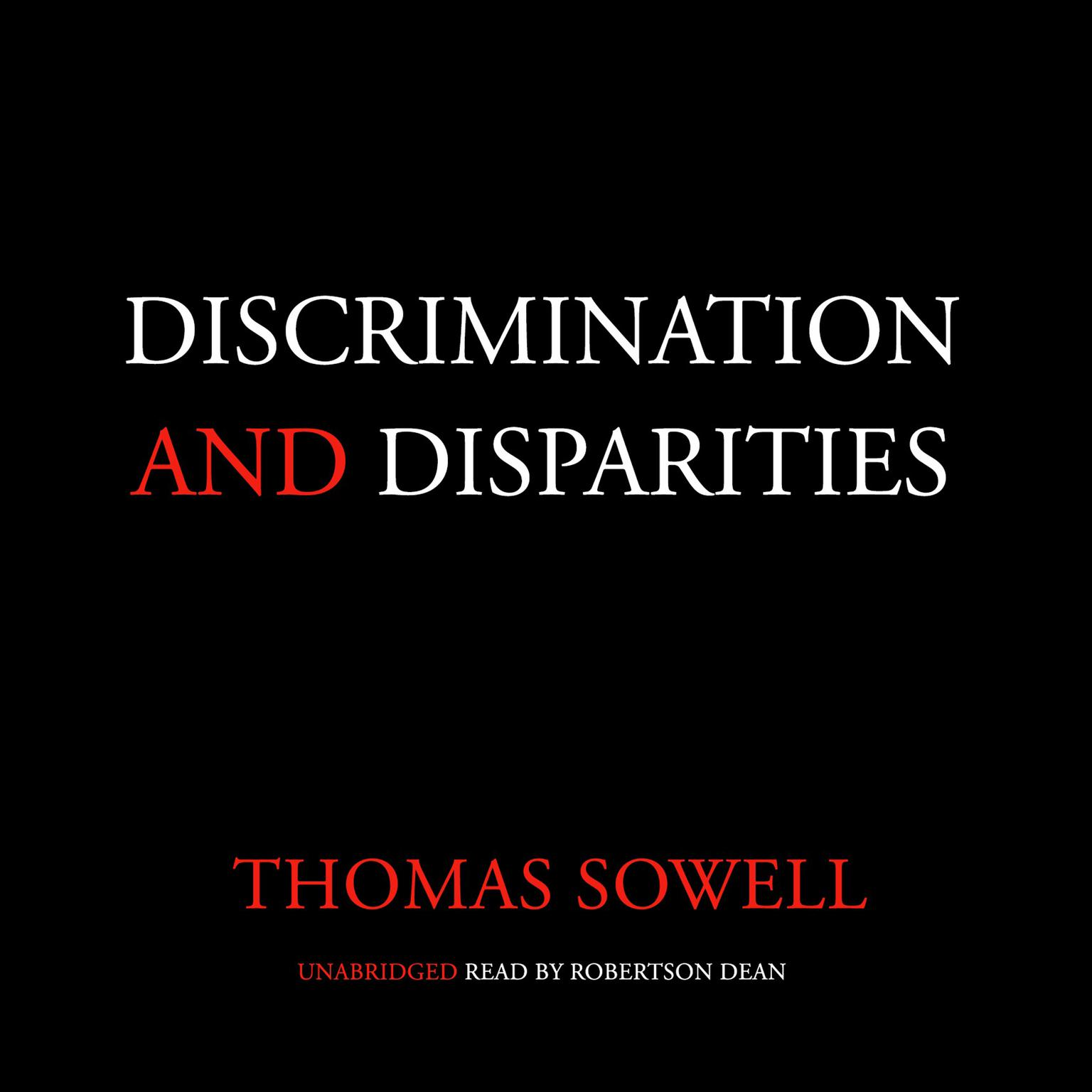 Printable Discrimination and Disparities Audiobook Cover Art