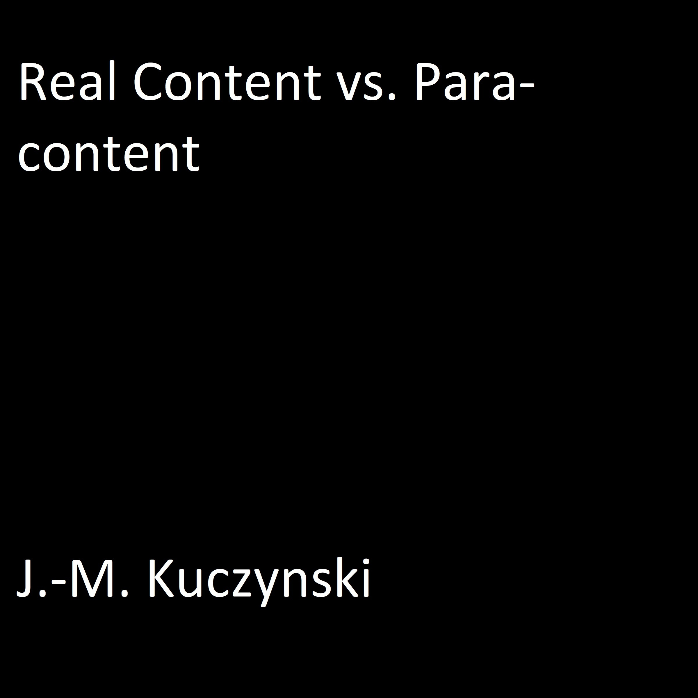 Printable Real Content vs. Para-content Audiobook Cover Art