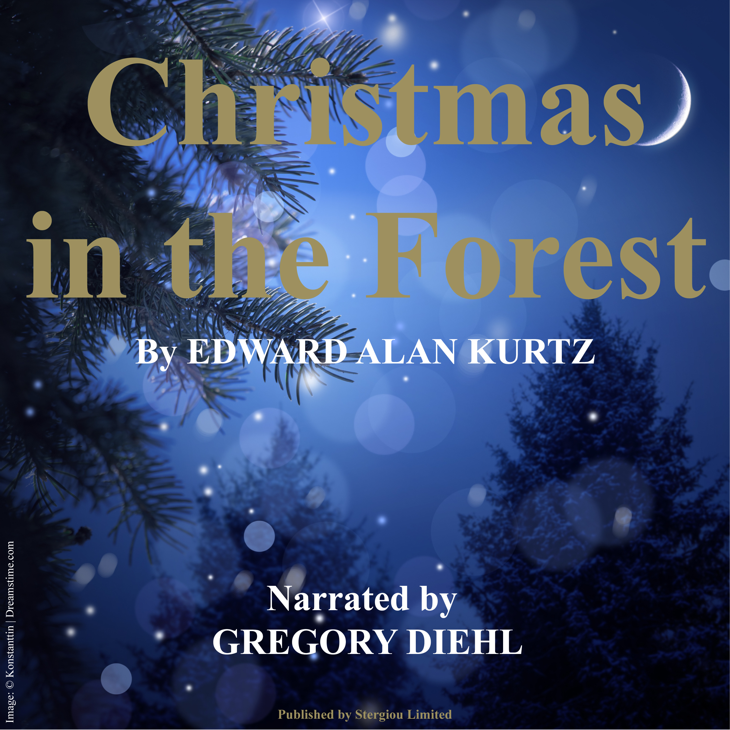 Printable Christmas in the Forest Audiobook Cover Art