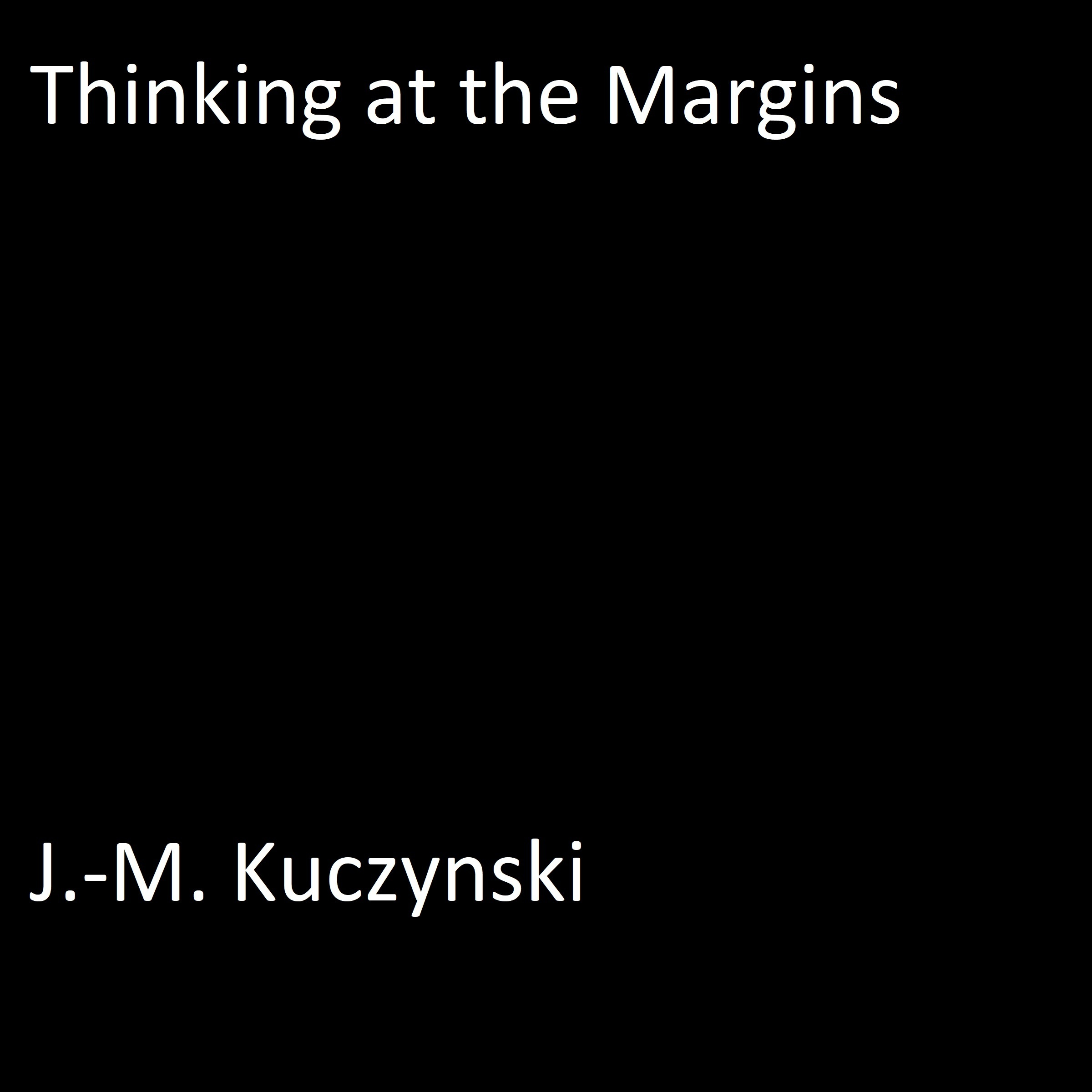 Printable Thinking at the Margins Audiobook Cover Art